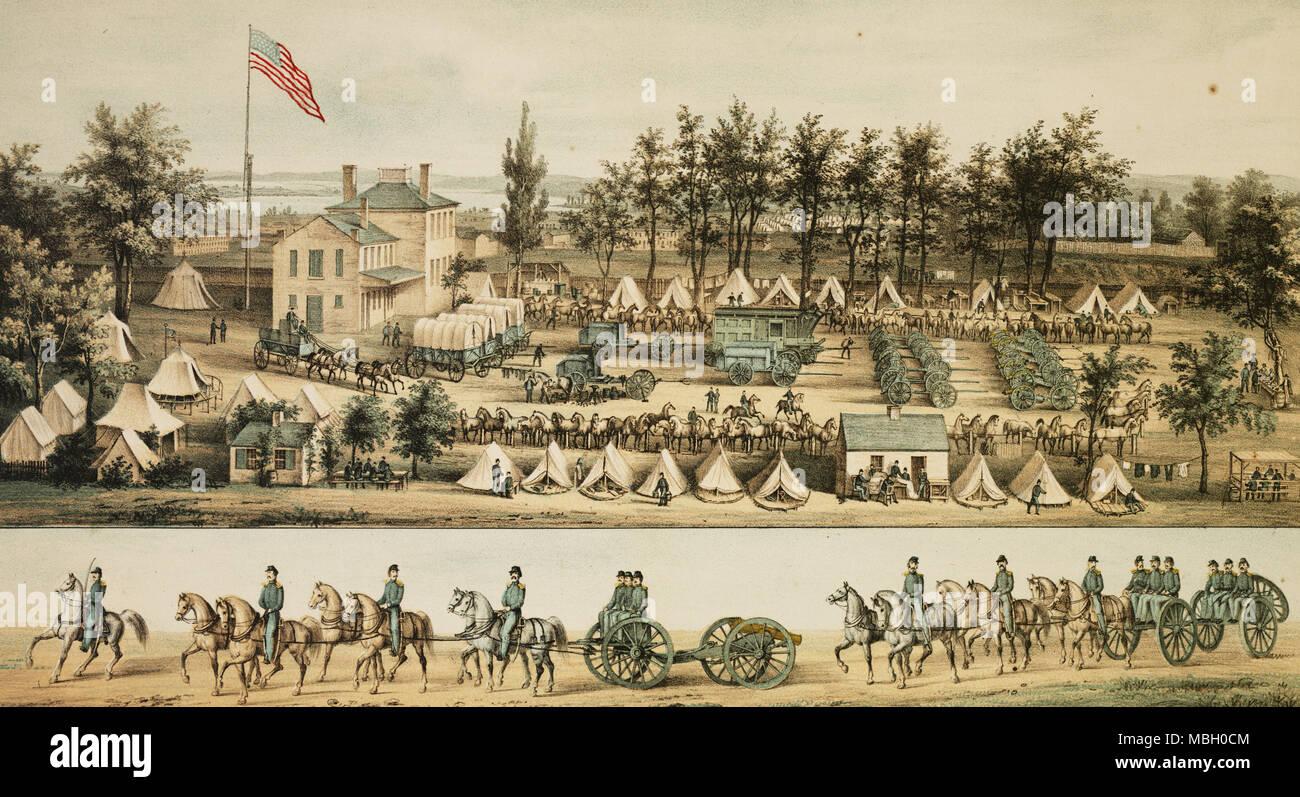 Massachusetts Light Artillery in Baltimore - Stock Image