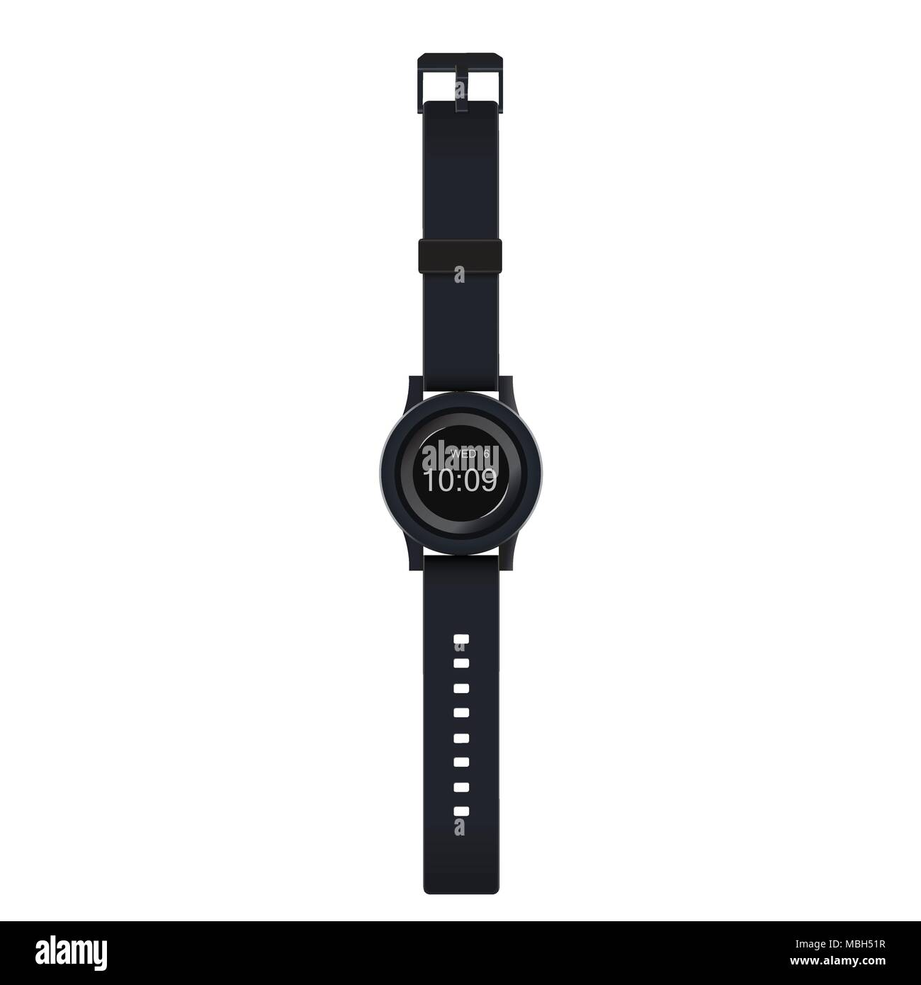 Watch design vector illustration isolated on white background. - Stock Image