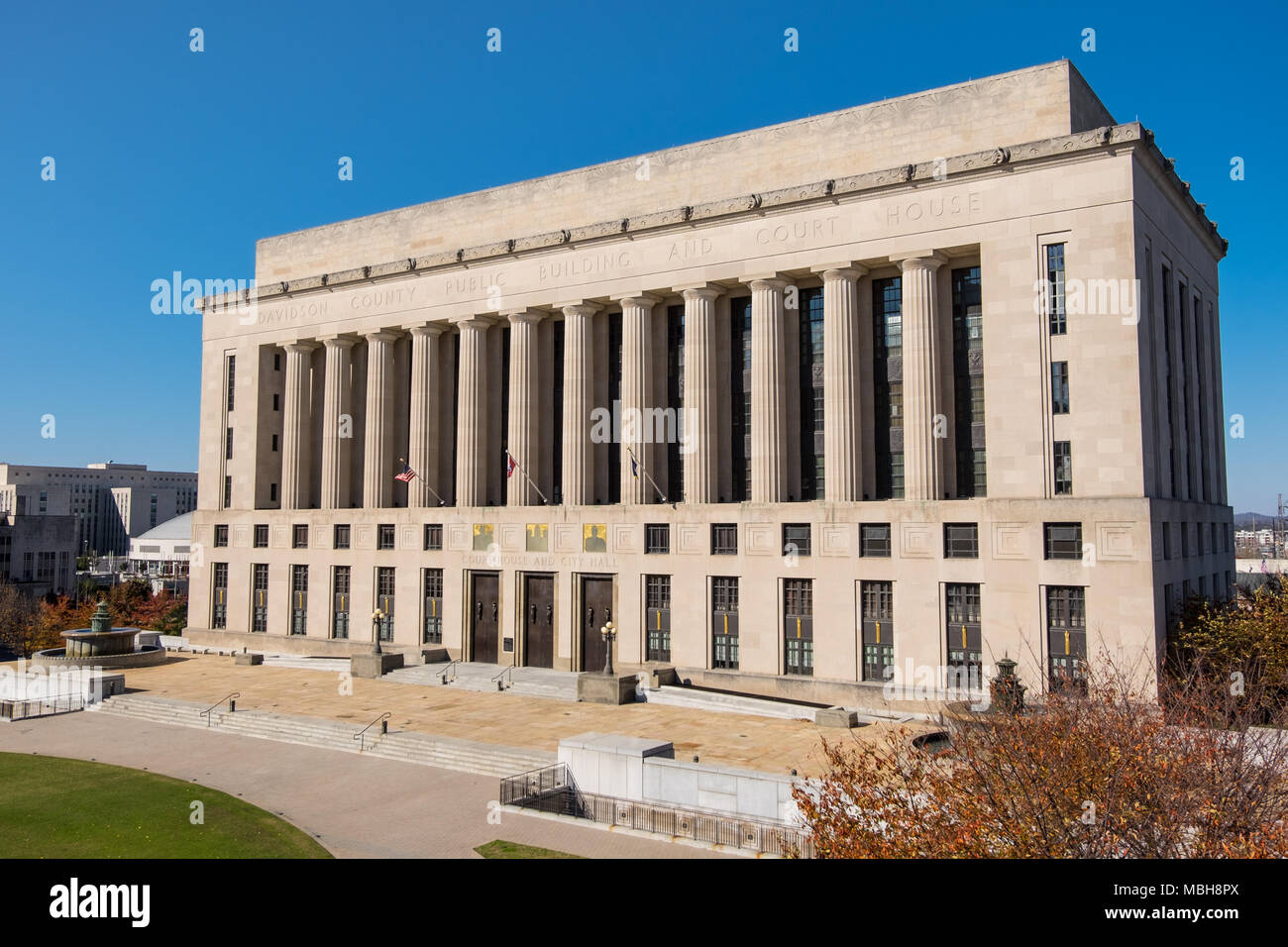 Davidson County Public Building and Court House in Nashville,Tennessee, USA. - Stock Image