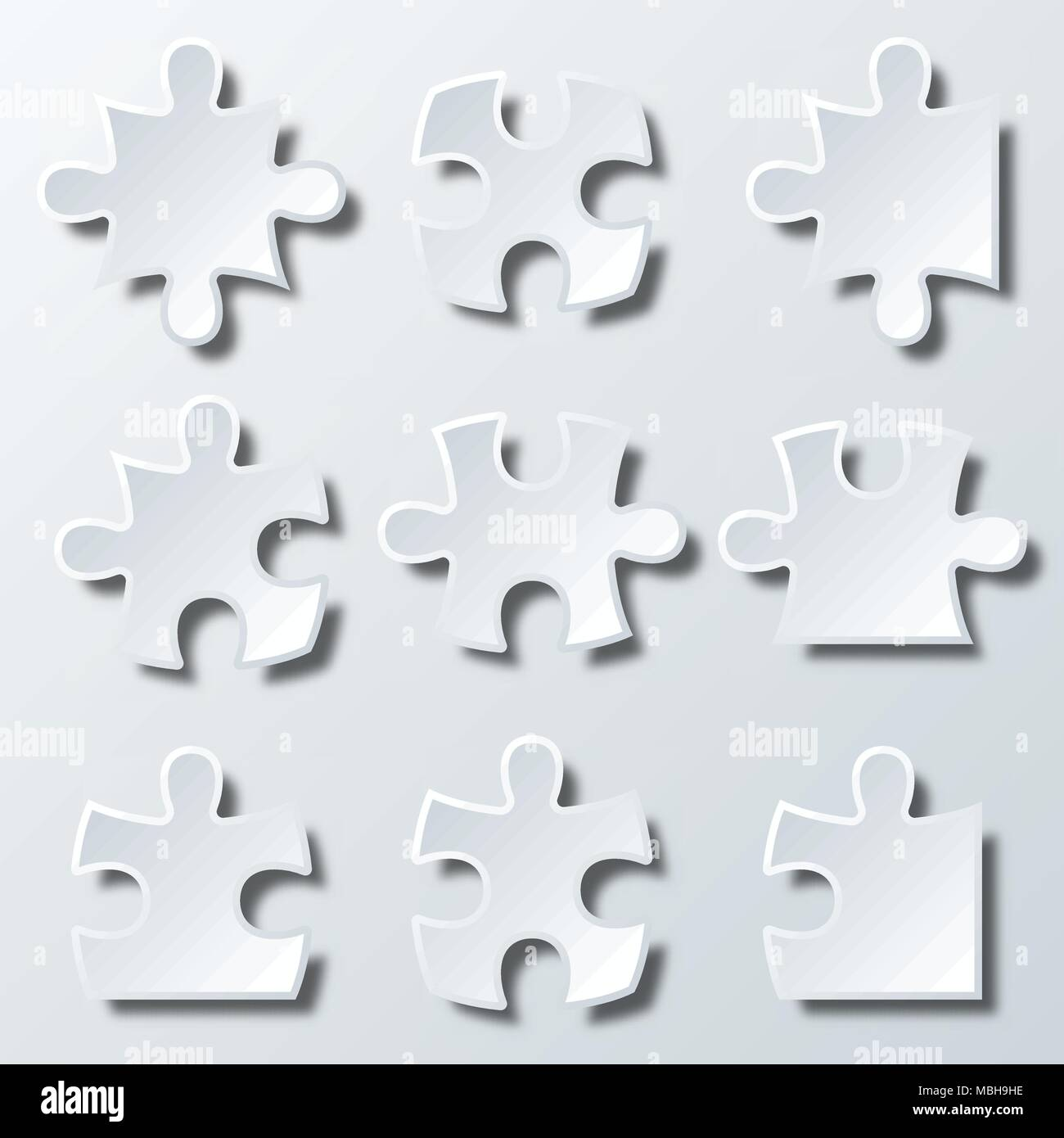 Variety shape pieces of Paper jigsaw puzzle for Business idea