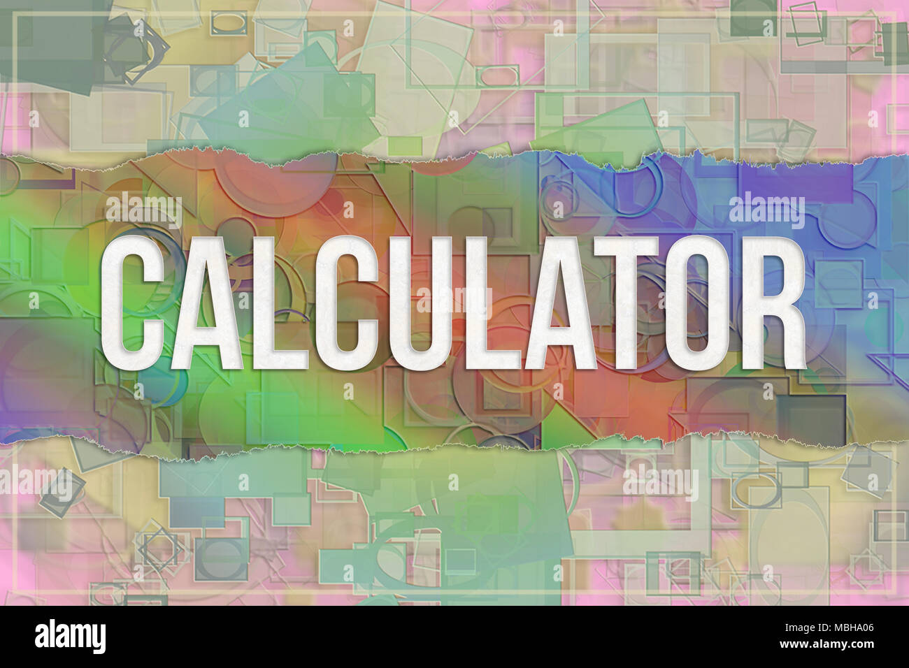 Calculator Information Technology Conceptual Words With