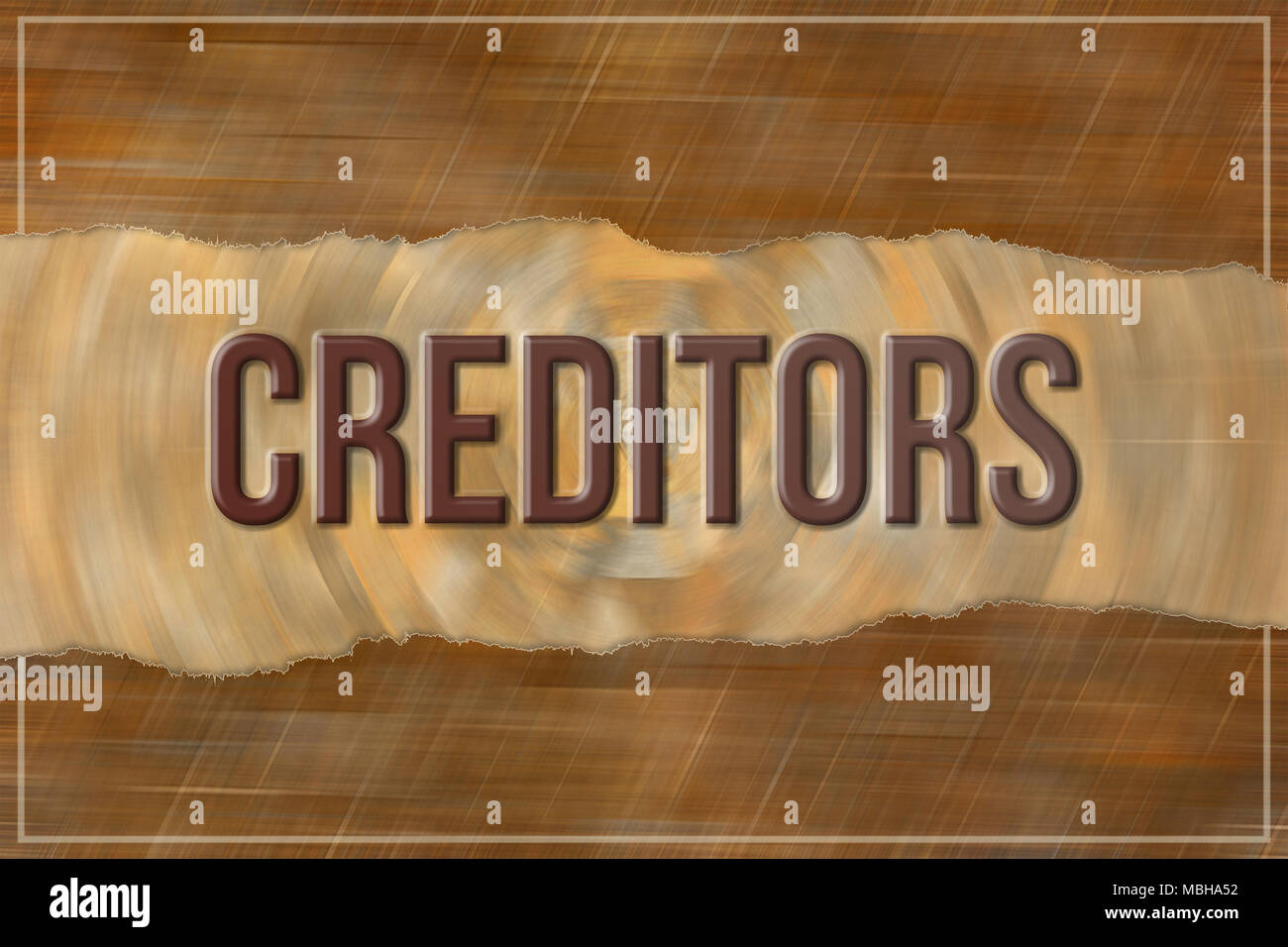 Creditors, business & finance conceptual words, with texture background for web page, graphic design, catalog or wallpaper. - Stock Image