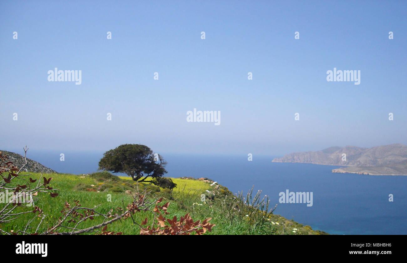 Ionian Sea landscape, Leros, Greece, 2006 - Stock Image
