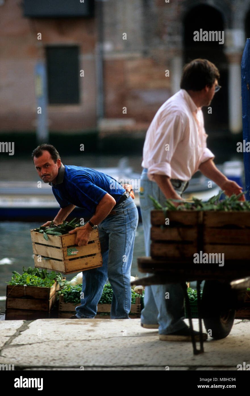Italy Food Film Stock Photos Images Alamy Zipora Black Jeans Unloading Produce At The Rialto Markets Image