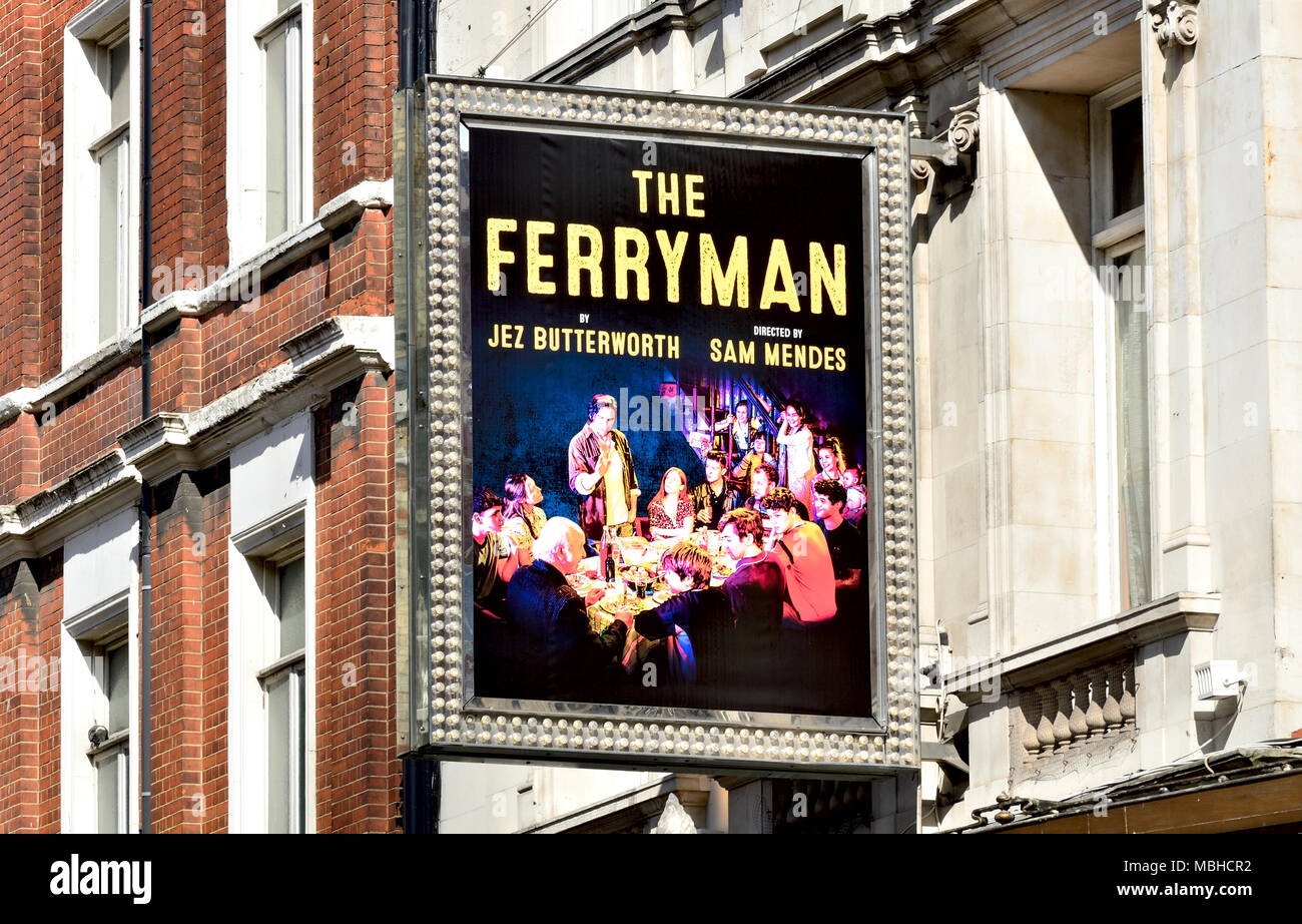 London, England, UK. The Ferryman at the Gielgud Theatre (April 2018) - Stock Image