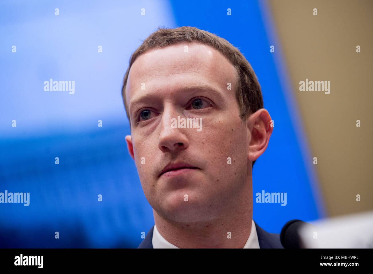 Washington, District of Columbia, USA. 11th Apr, 2018. Facebook CEO Mark Zuckerberg appears before the House Energy and Commerce Committee. Credit: Erin Scott/ZUMA Wire/Alamy Live News Stock Photo