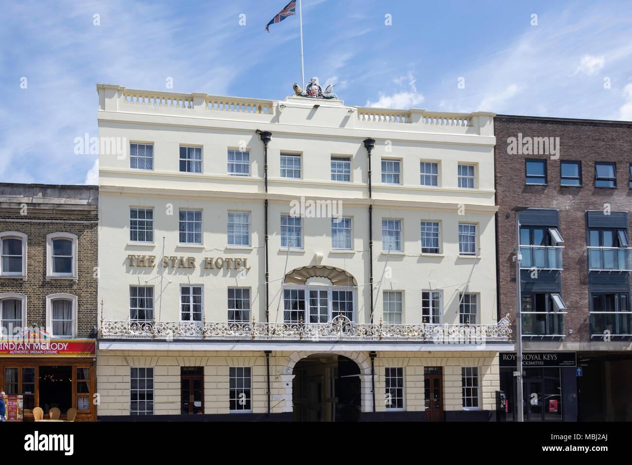 19th century The Star Hotel, High Street, Southampton, Hampshire, England, United Kingdom - Stock Image