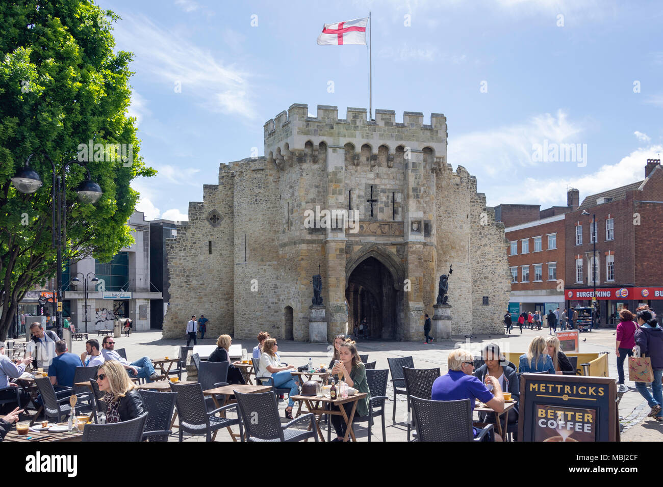 Mettricks Old Town Cafe, High Street, Old Town, Southampton, Hampshire, England, United Kingdom - Stock Image