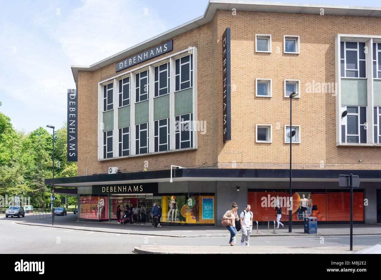Debenhams department store, Queens Buildings, Queensway, Southampton, Hampshire, England, United Kingdom - Stock Image