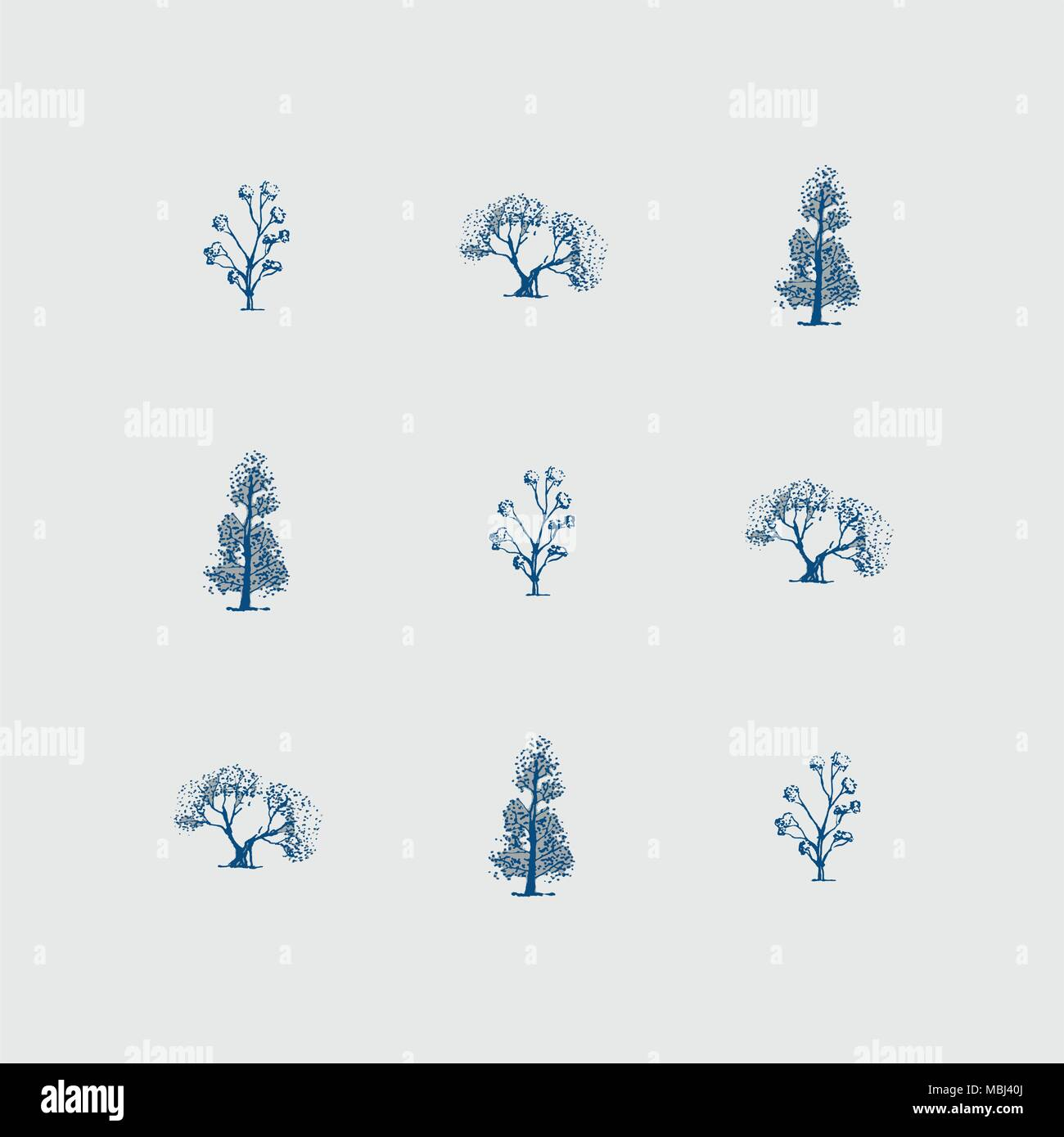 Little tree backgraund and print - Stock Image