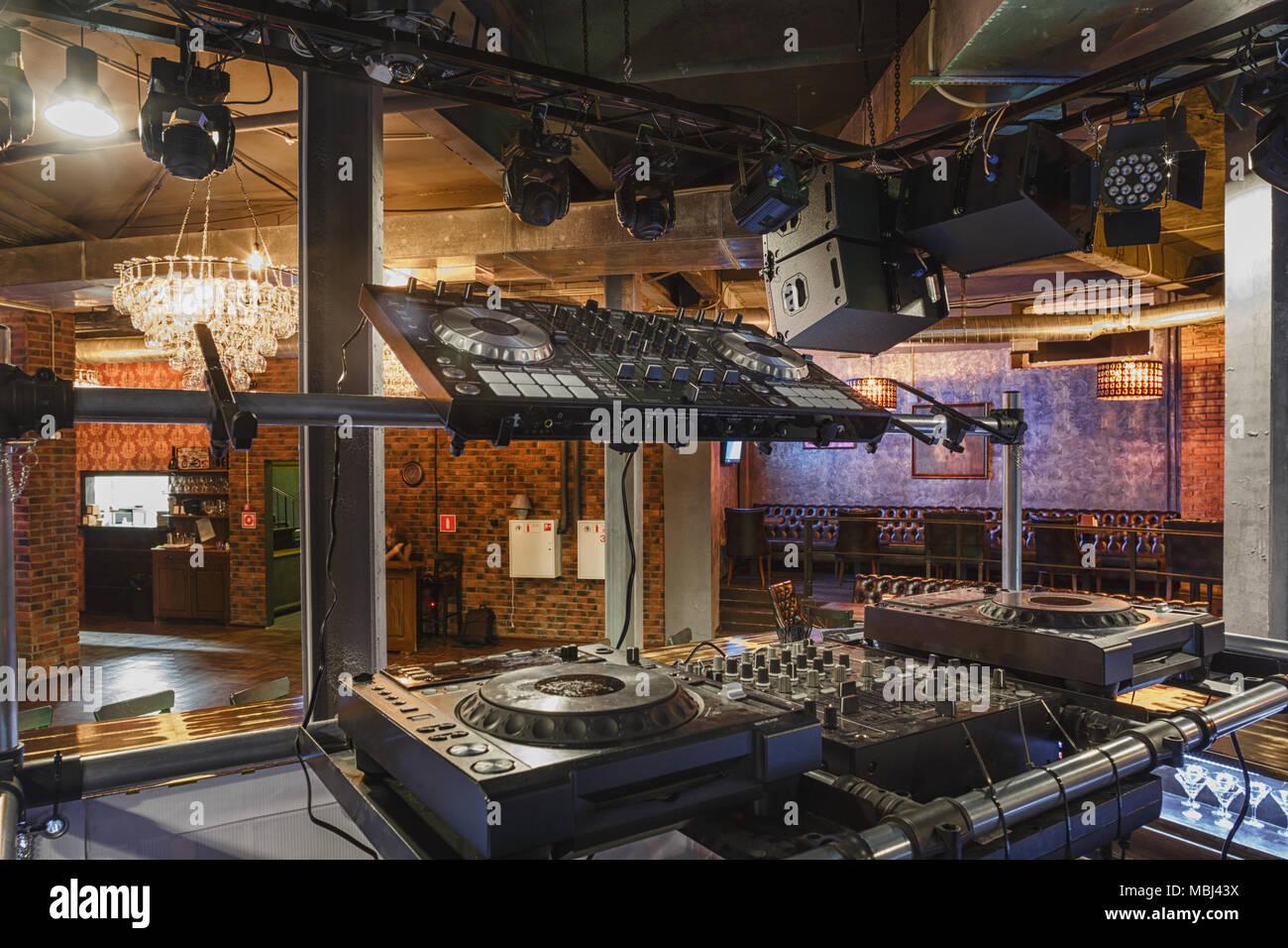 Nightclub interior design stock photos