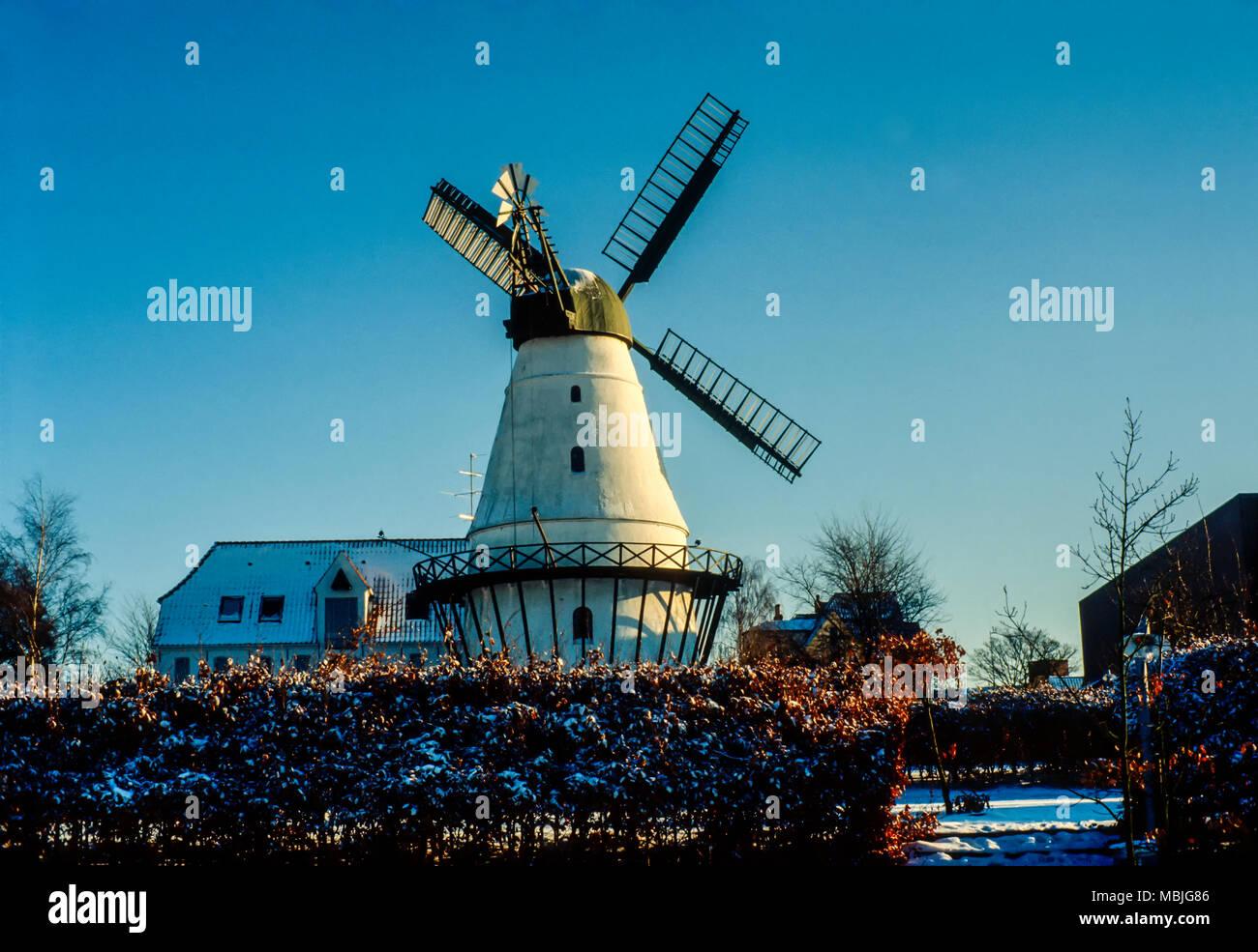 Historic windmill in Dybboel, Jylland, Denmark. - Stock Image