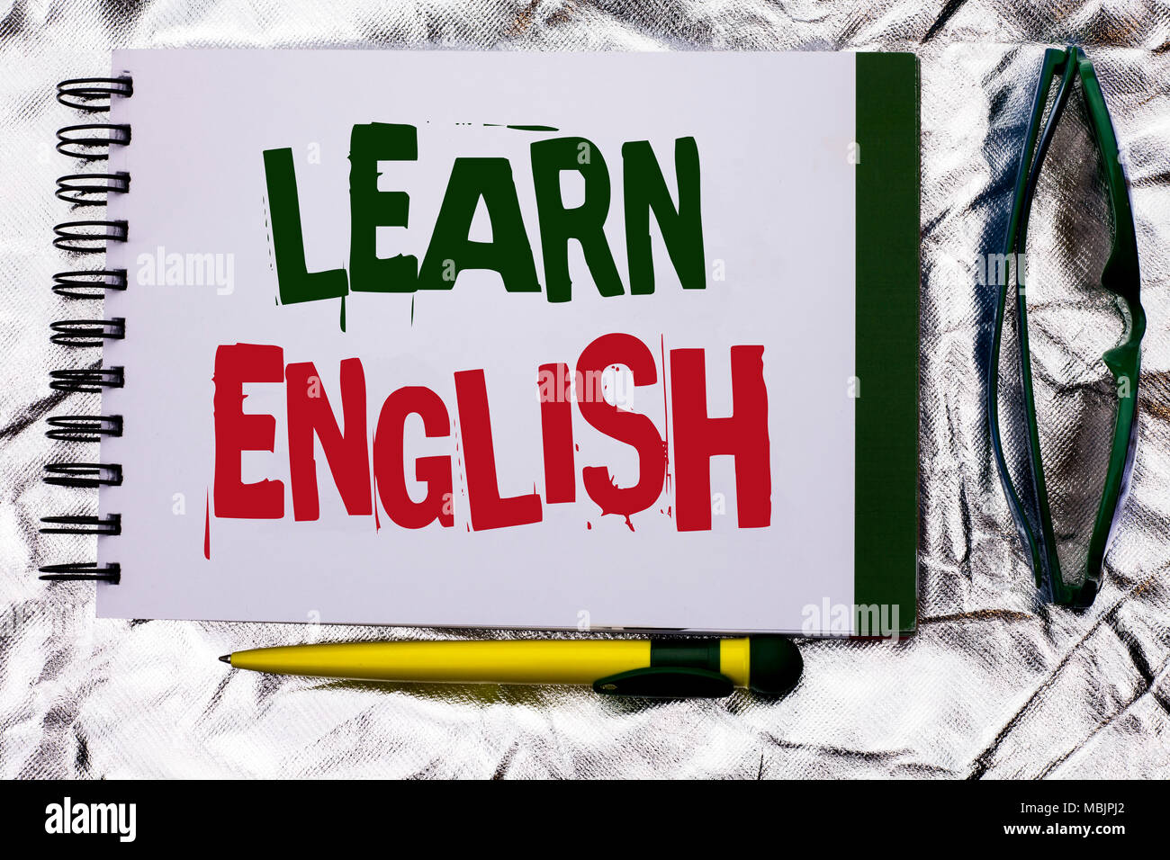 Text sign showing Learn English  Conceptual photo Study another