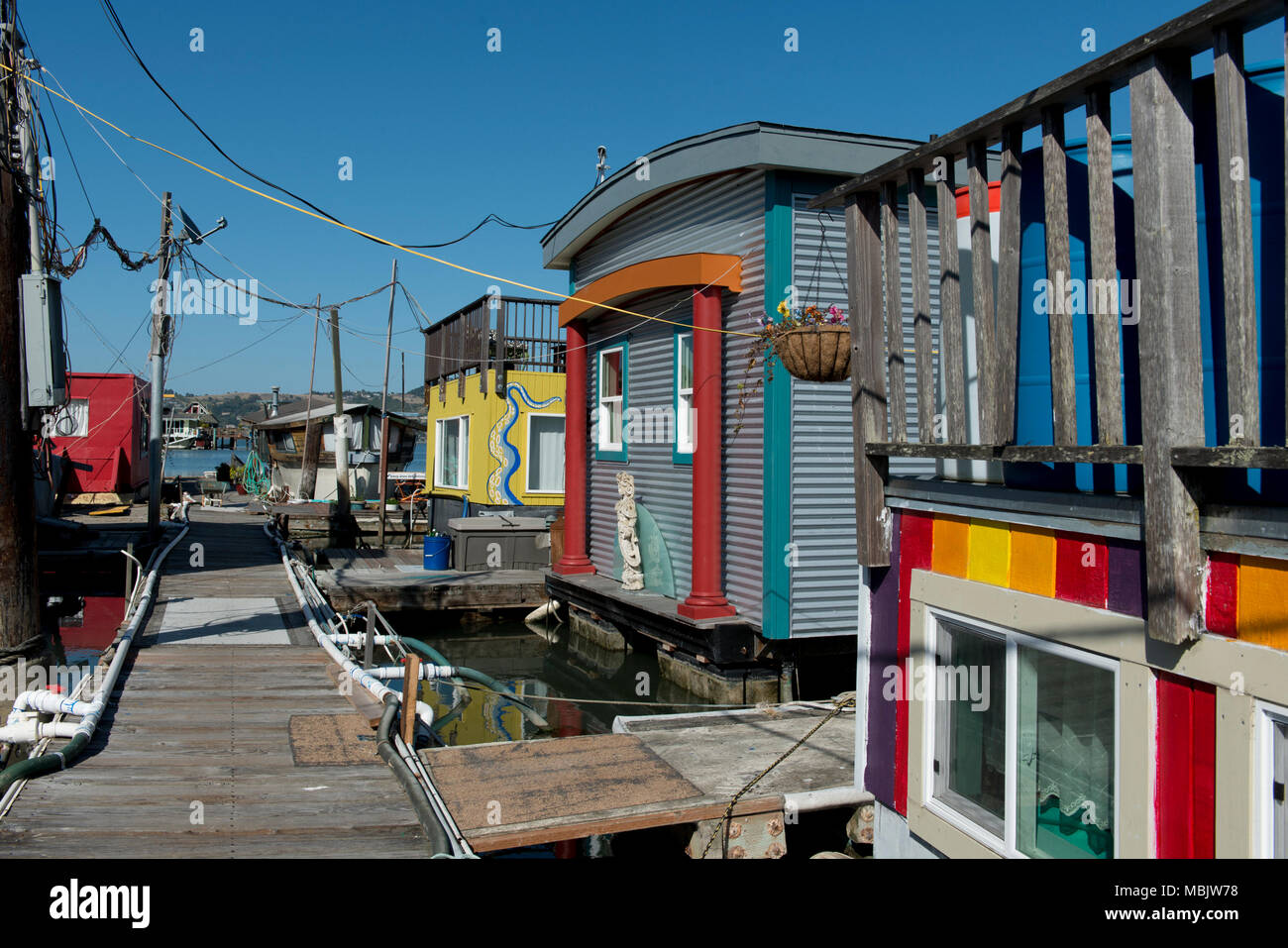 500 Floating Homes in the Bay - Stock Image
