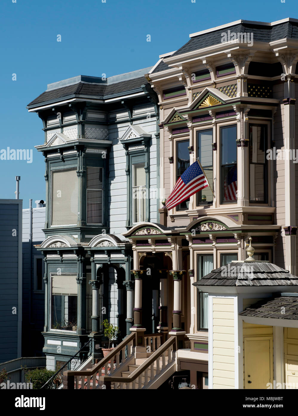 High Victorian Homes - Stock Image