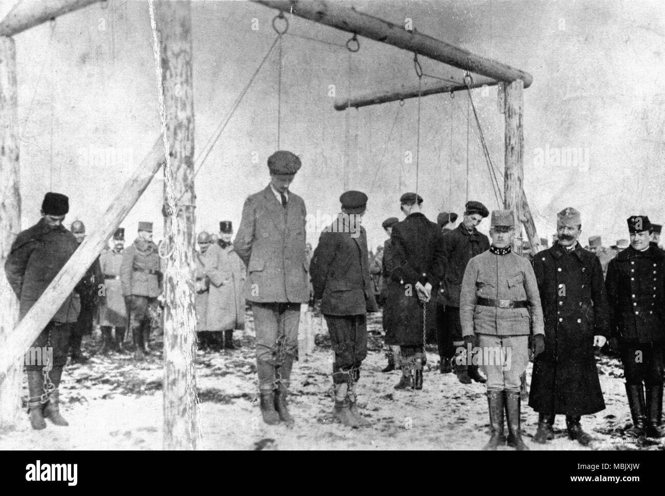 Executing an Unkind War - Hanging on Serbia - Stock Image