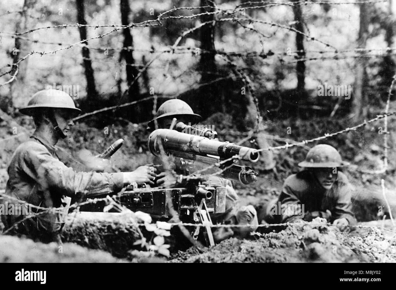 American Infantry  in Alsace - Stock Image