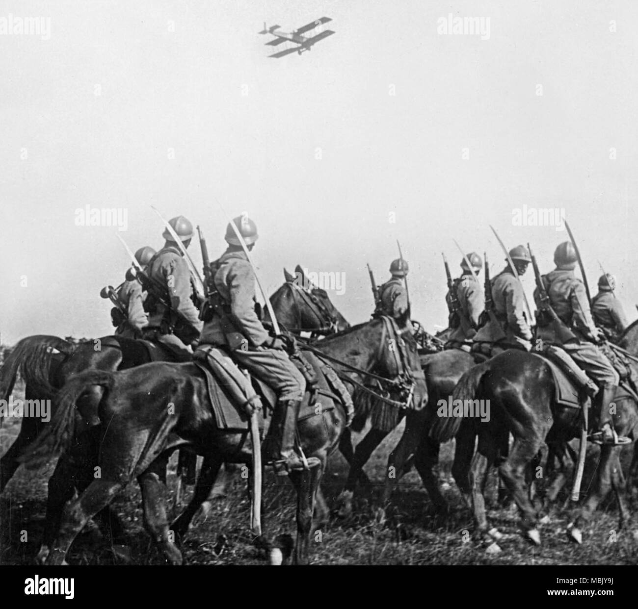 Sordid French Cavalry spies Plane - Stock Image