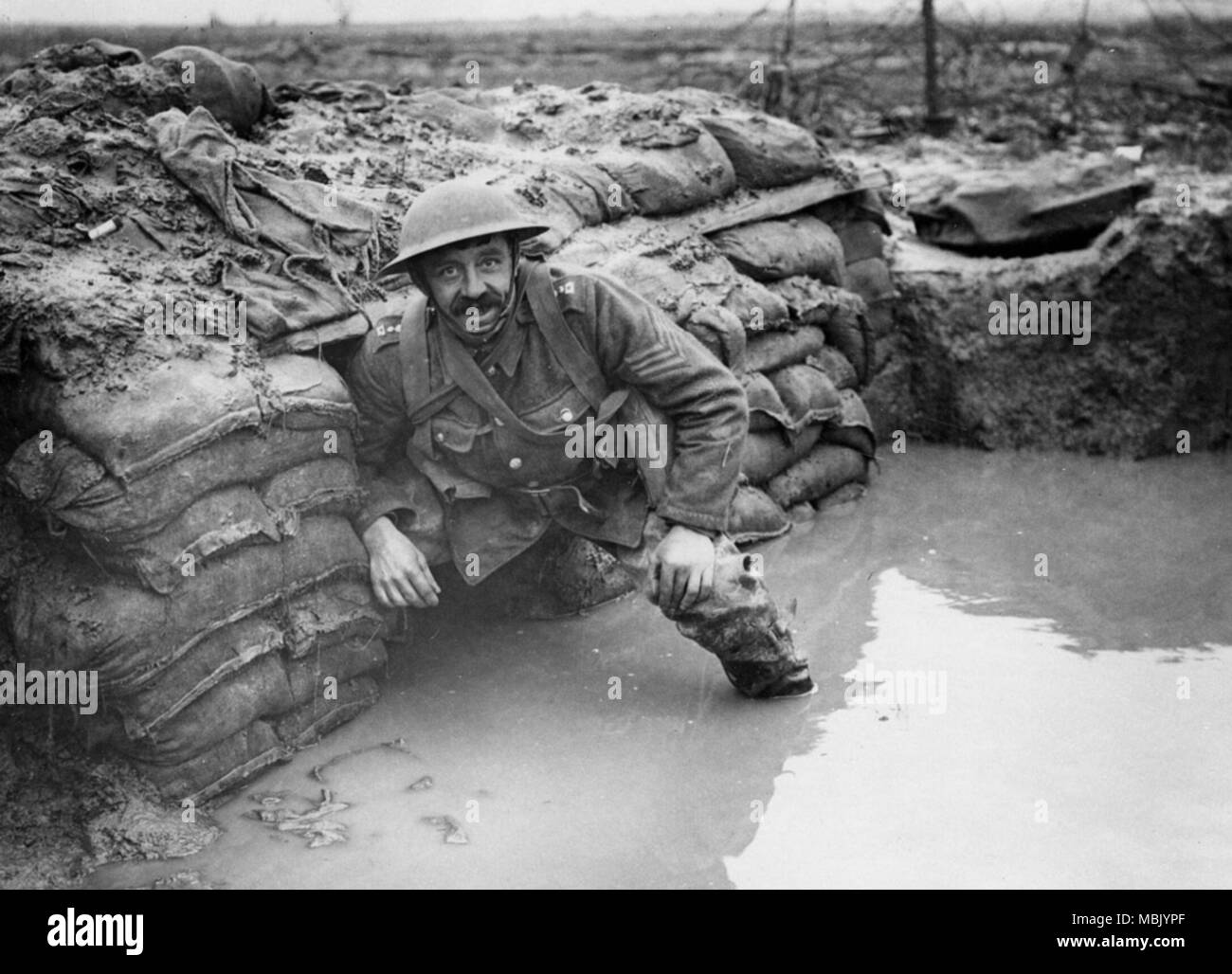 Muddling through the Front Lines - Stock Image