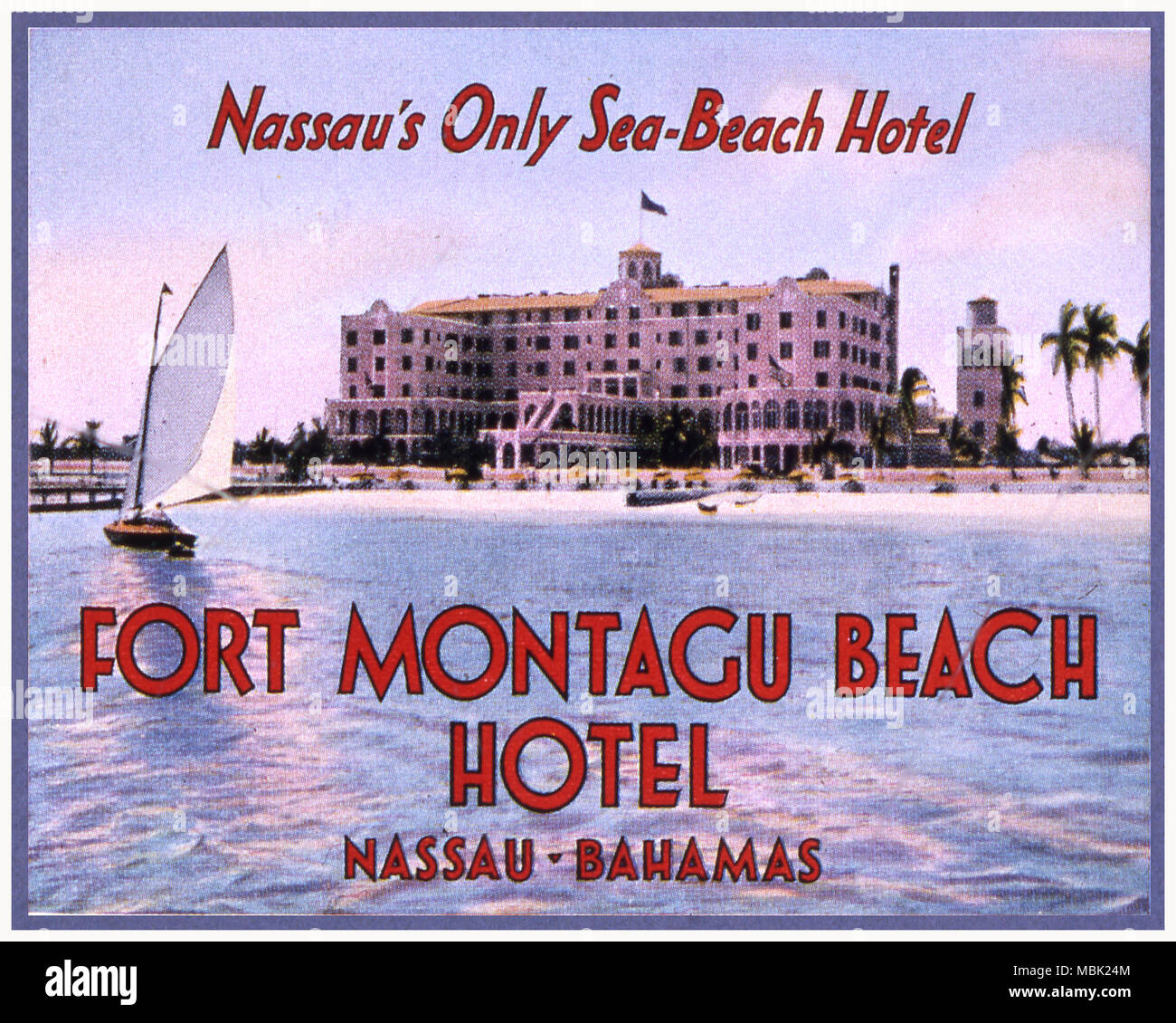 Fort Montagu Beach Hotel - Stock Image