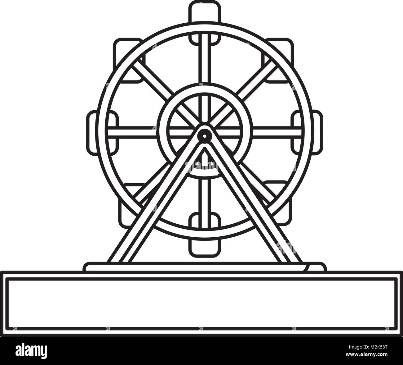 fortune wheel icon over white background, vector illustration - Stock Image