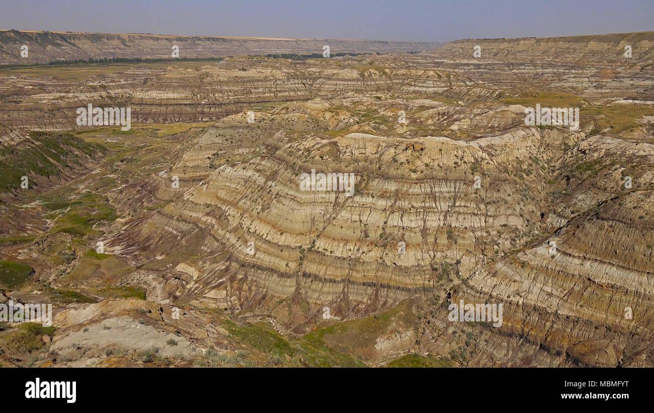 The Canadian Badlands of Drumheller, Alberta Stock Photo