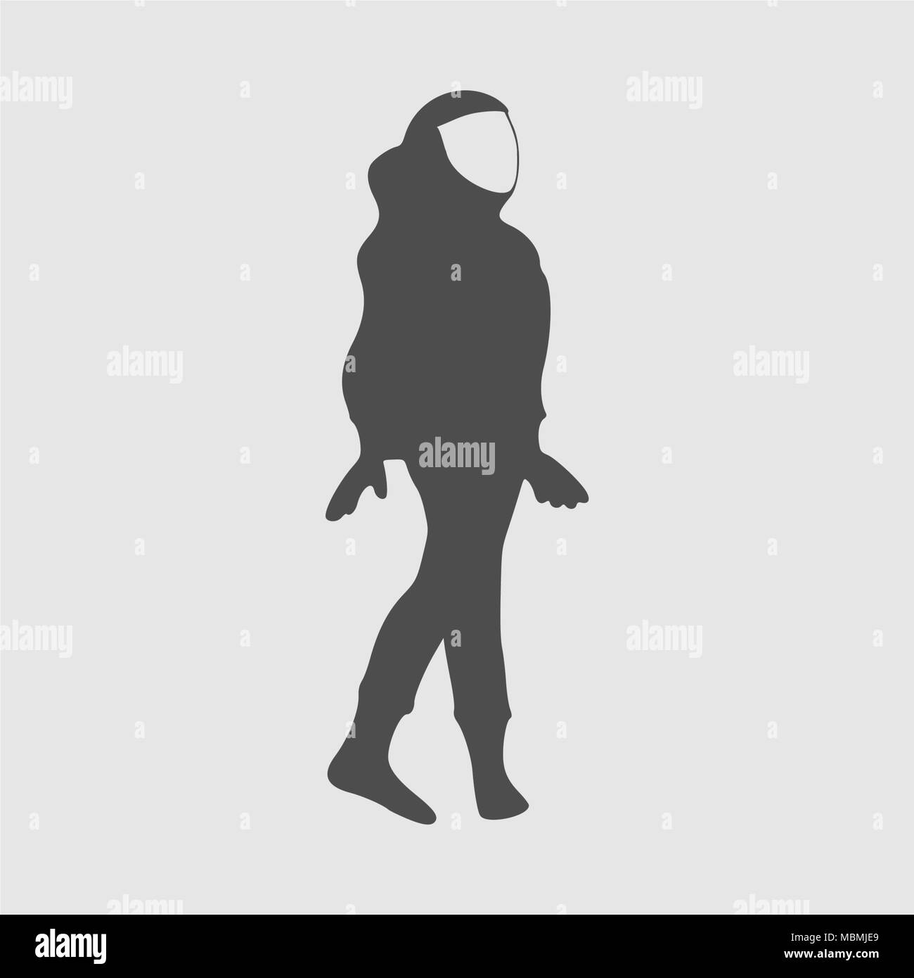 Astronaut abstract silhouette - Stock Image