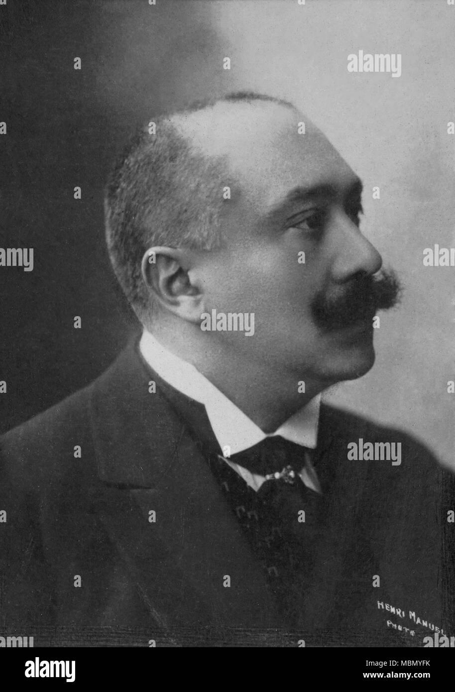 Portrait of Joseph Ruau ( 1865 - 1923 )  -  photography by    Henri Manuel ( 1874 - 1947 ) - Stock Image