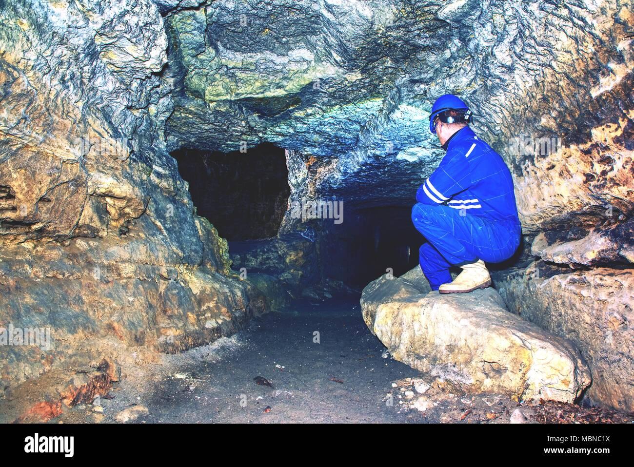 Underground Mine Worker Stock Photos Amp Underground Mine
