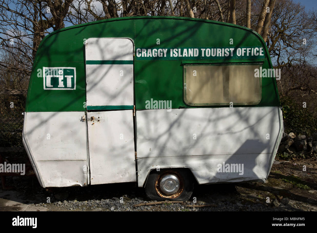 Craggy Island tourist office in Winter - Stock Image