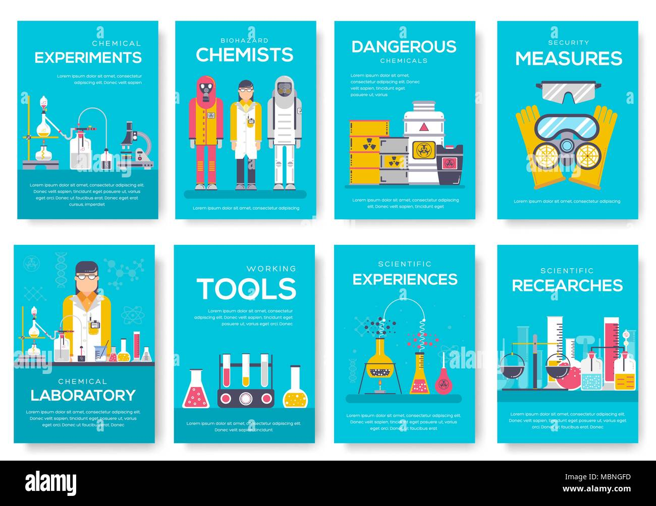 biohazard chemists brochure cards set chemistry lab template of