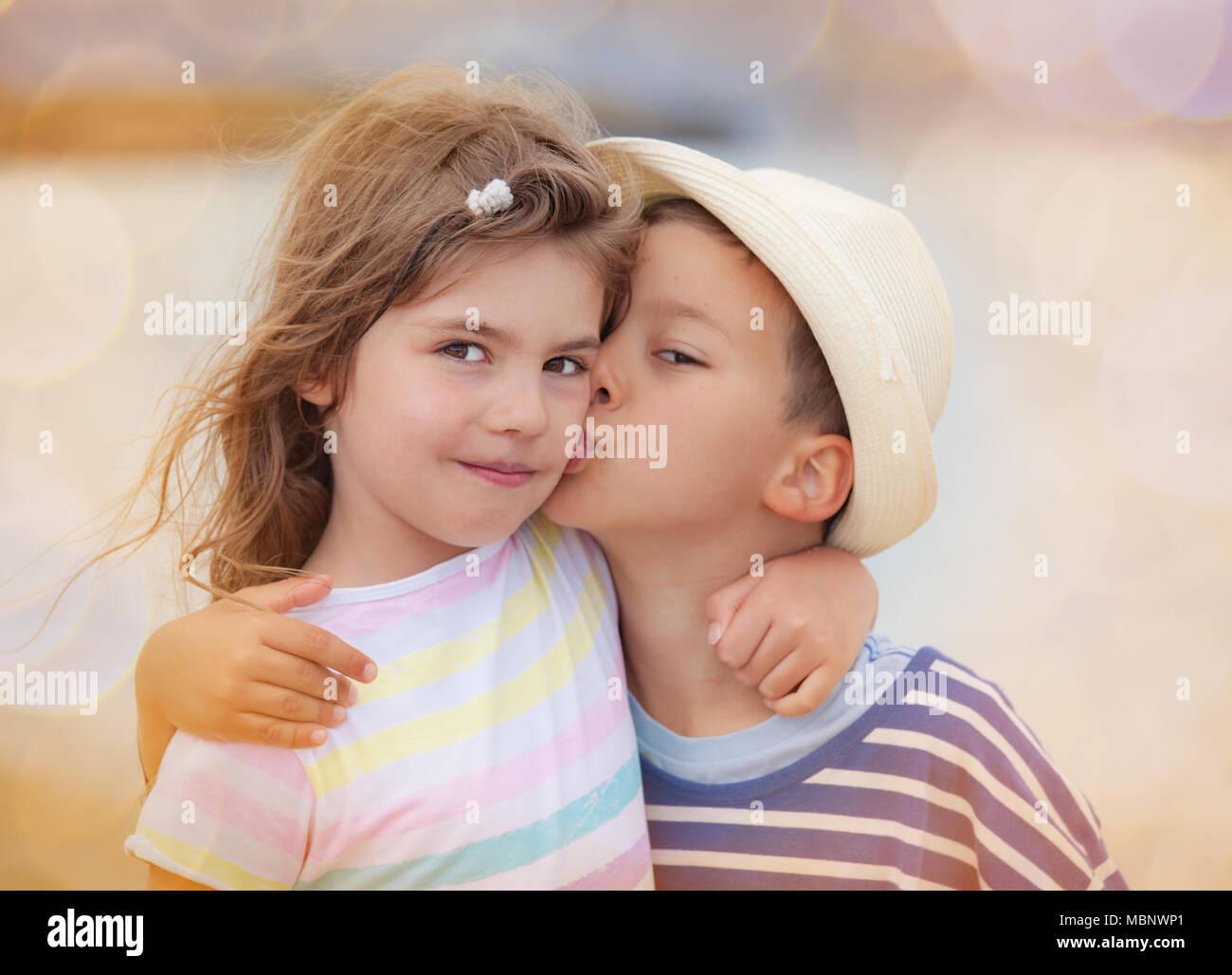 Girl Kissing Boy Stock Photos  Girl Kissing Boy Stock -1007