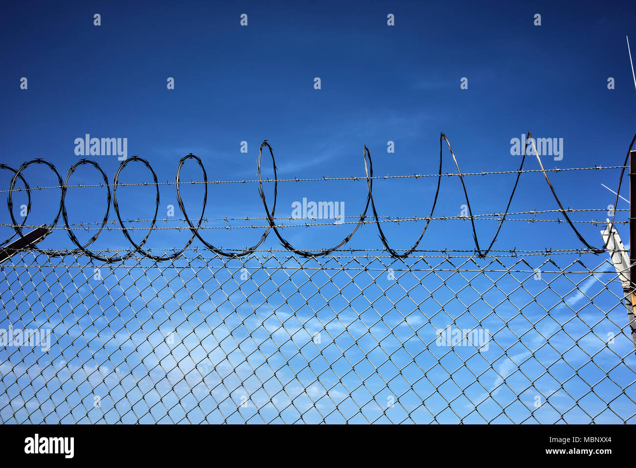 Fence Barbed Wire Silhouette Illustration Stock Photos & Fence ...