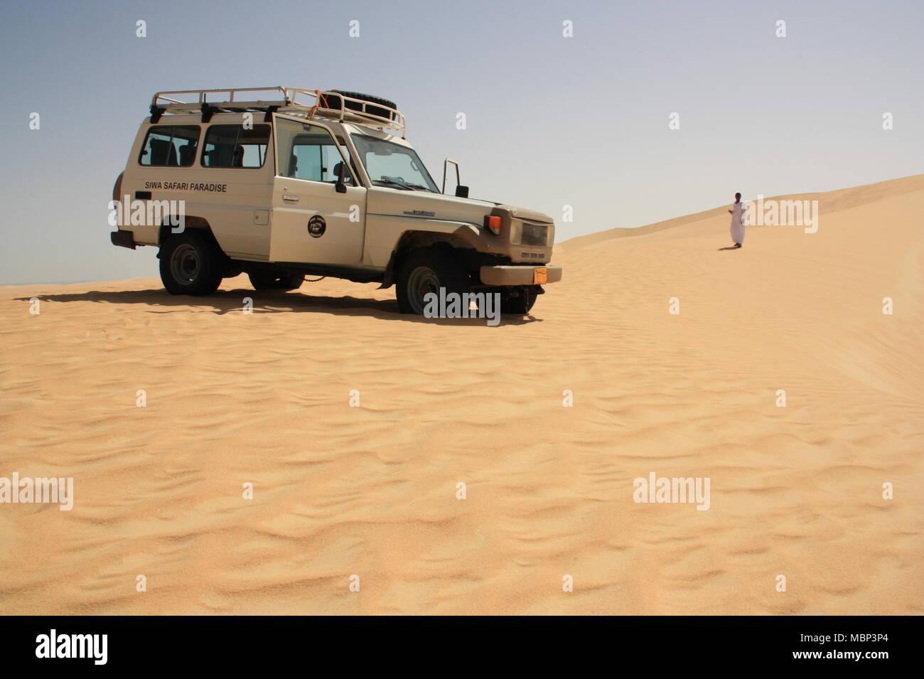 Short Break during a Sahara Desert Safari - Stock Image