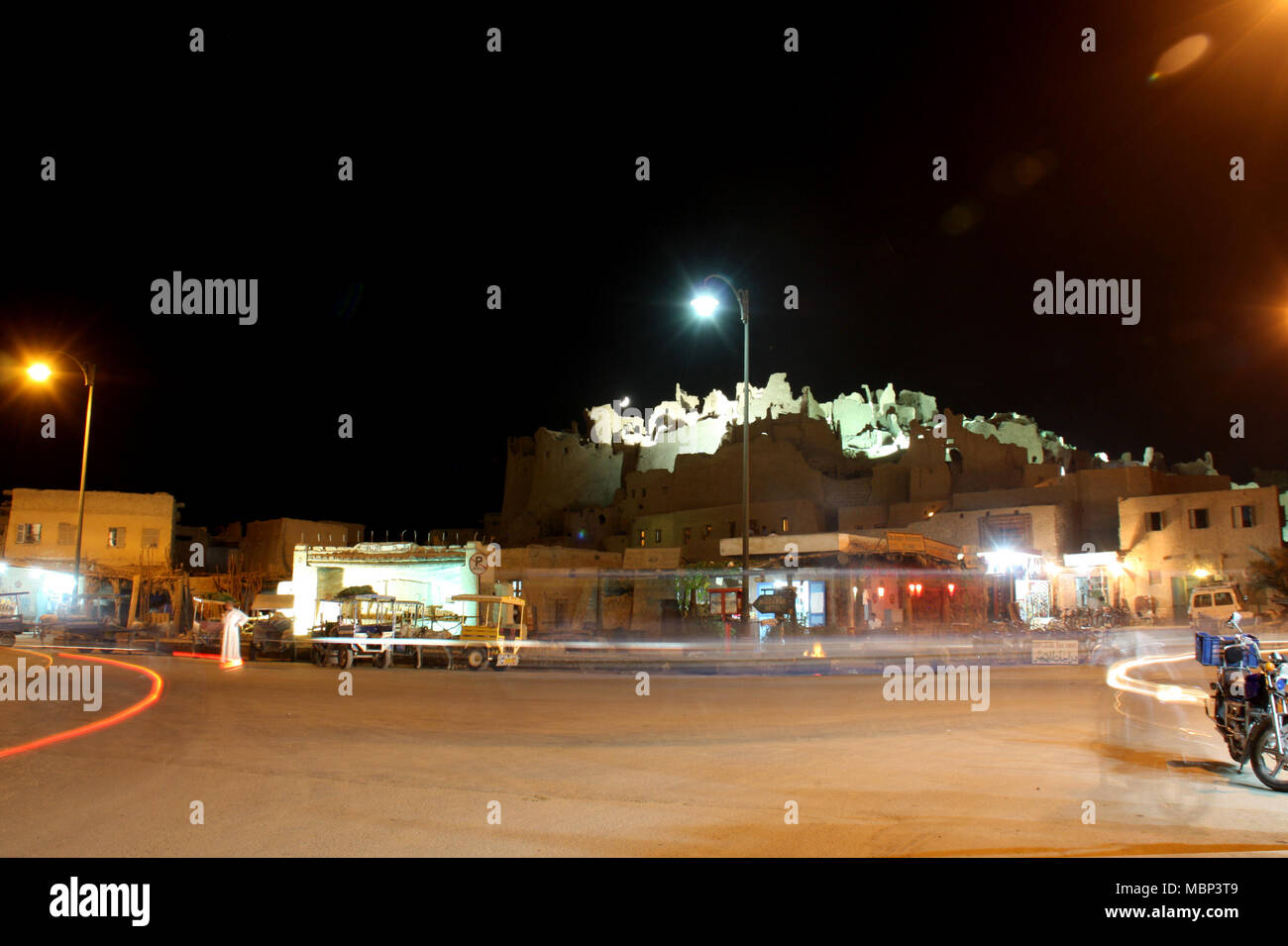 Siwa Oasis City Center and The Ruins of the Shali - Stock Image