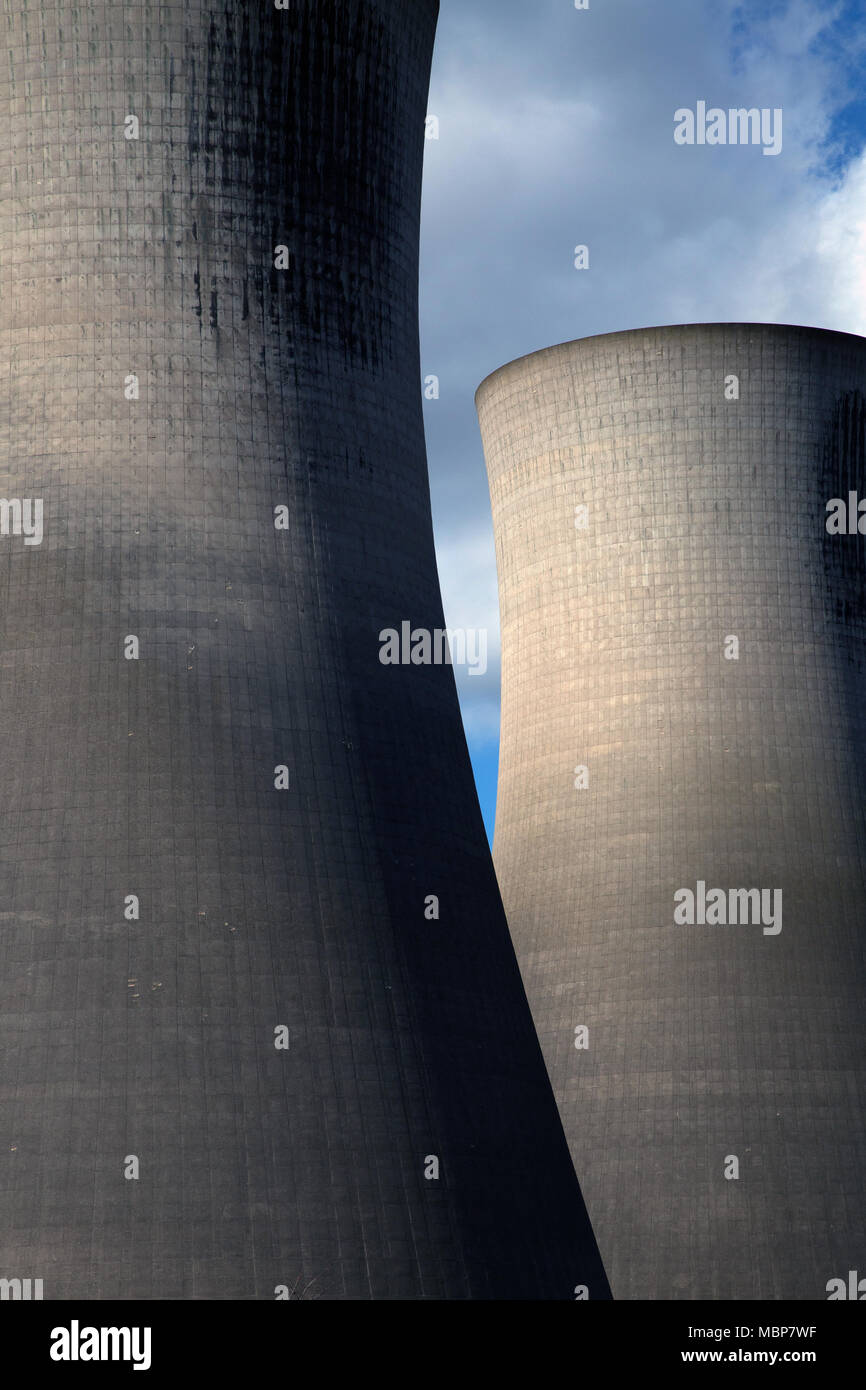 Cooling towers, Middlesbrough, England. - Stock Image