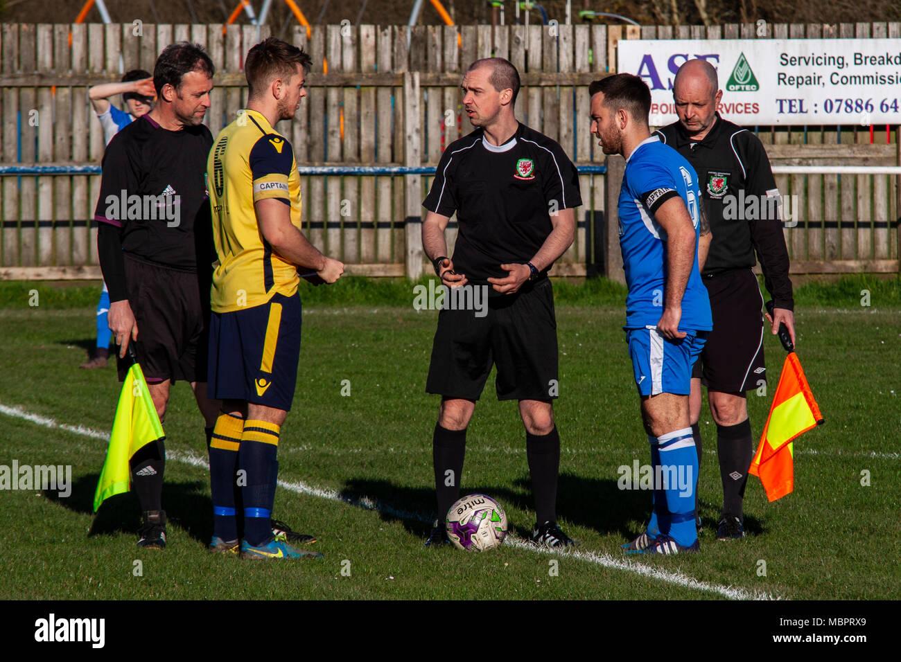 Cwmamman United 2-2 Port Talbot Town. Stock Photo