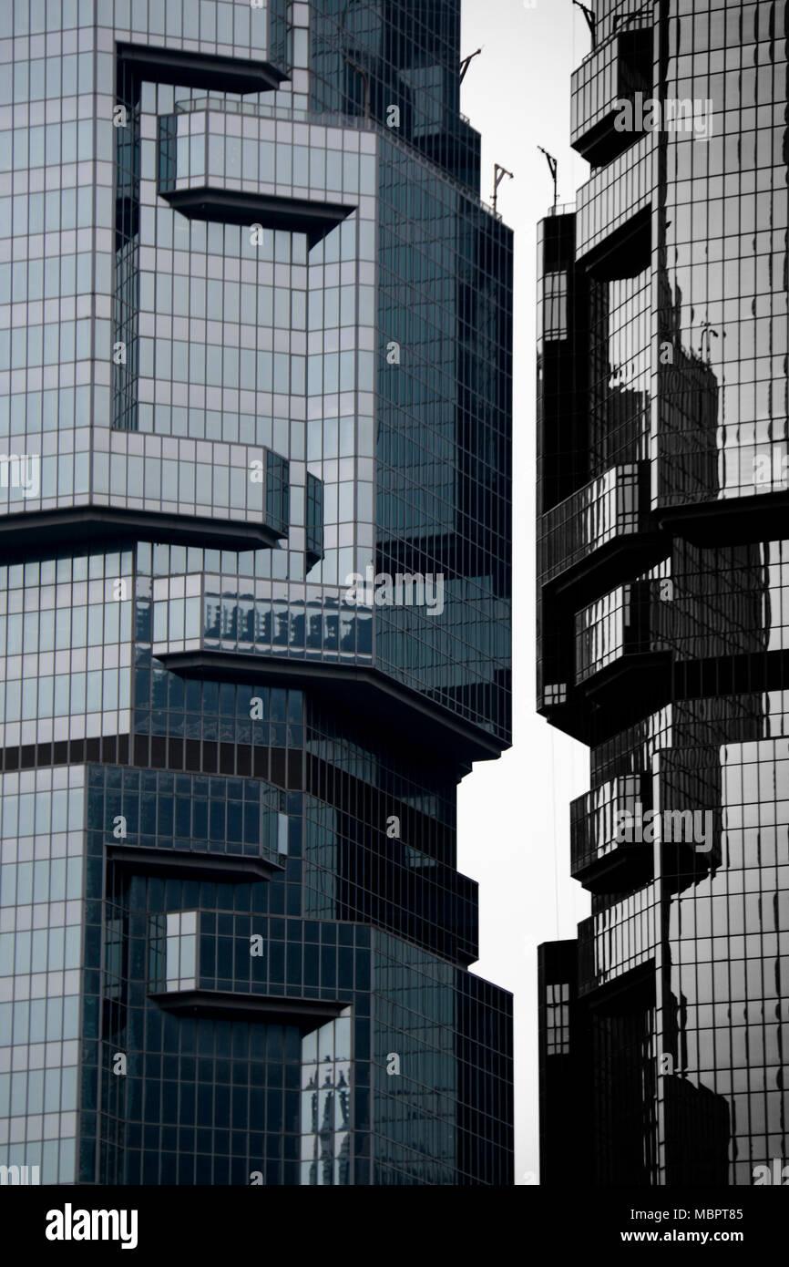 Lippo Twin Towers in Hong Kong, SAR of China - Stock Image
