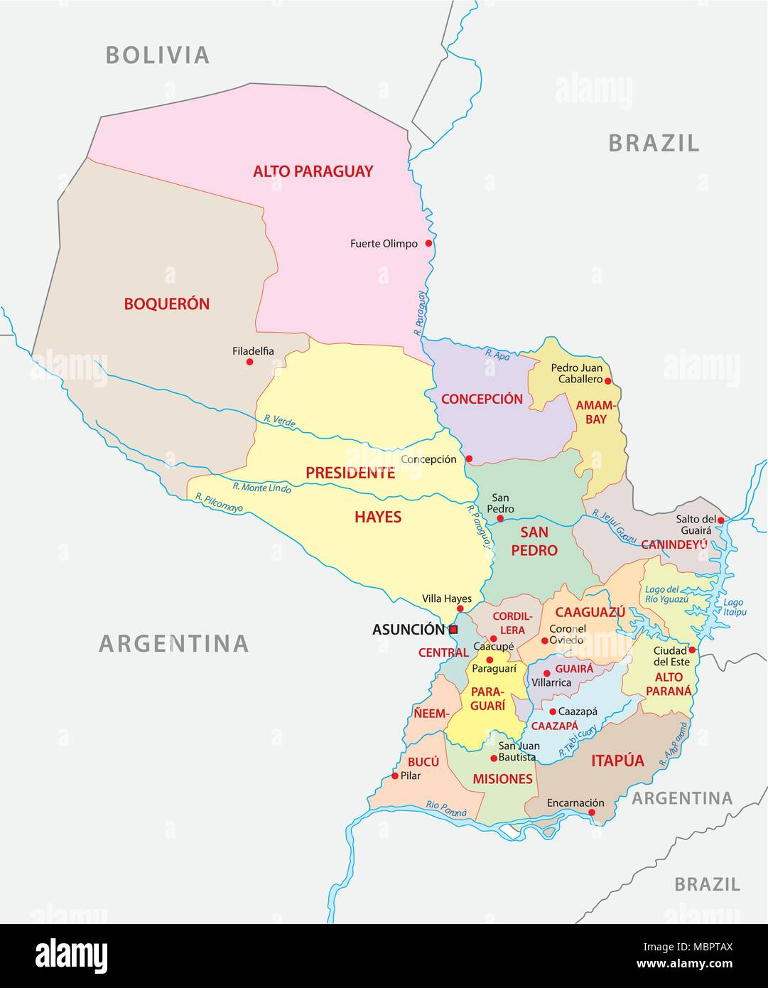 Border Brazil Bolivia Stock Photos Border Brazil Bolivia Stock