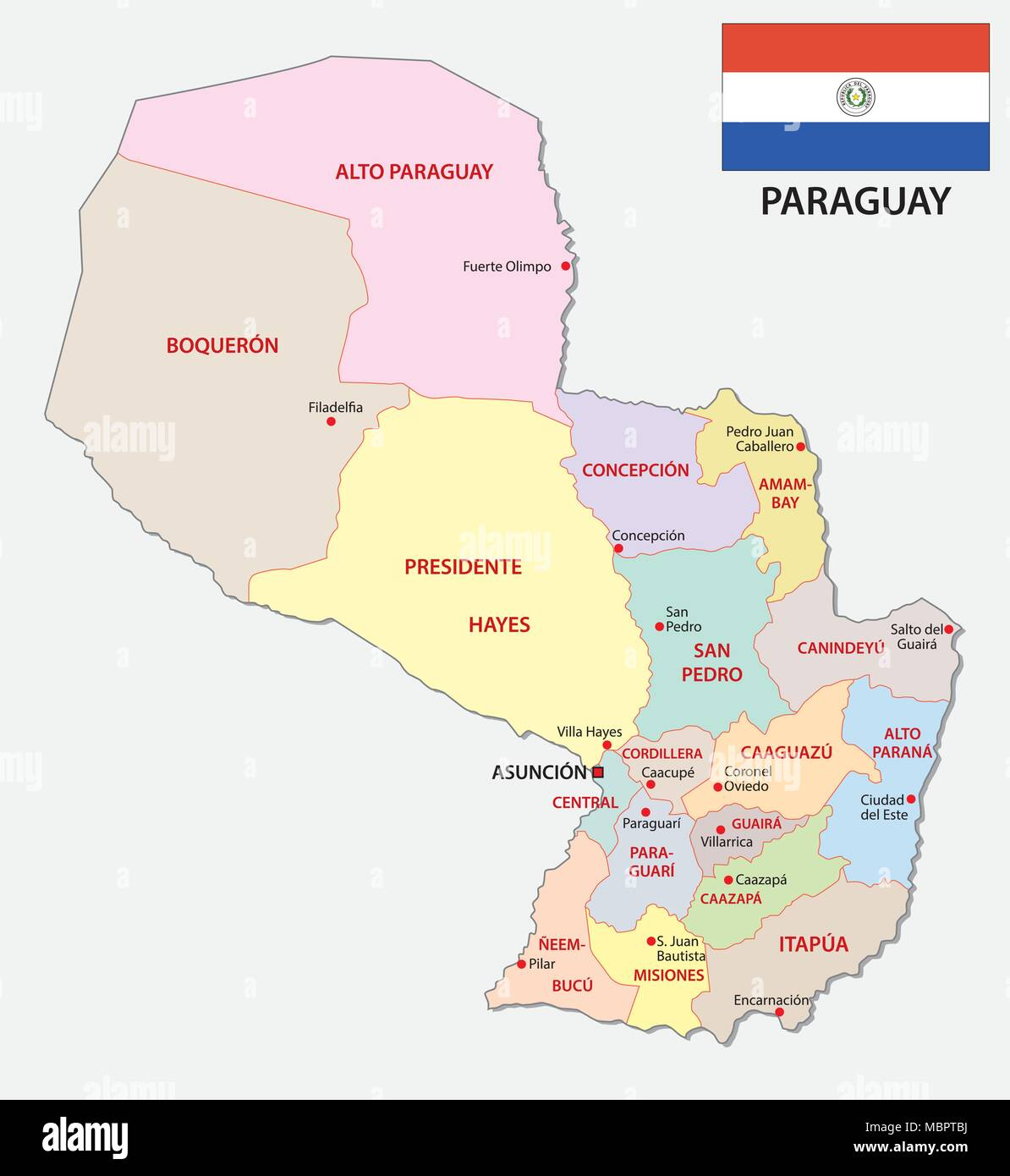 Map Of Paraguay Stock Photos Map Of Paraguay Stock Images Alamy