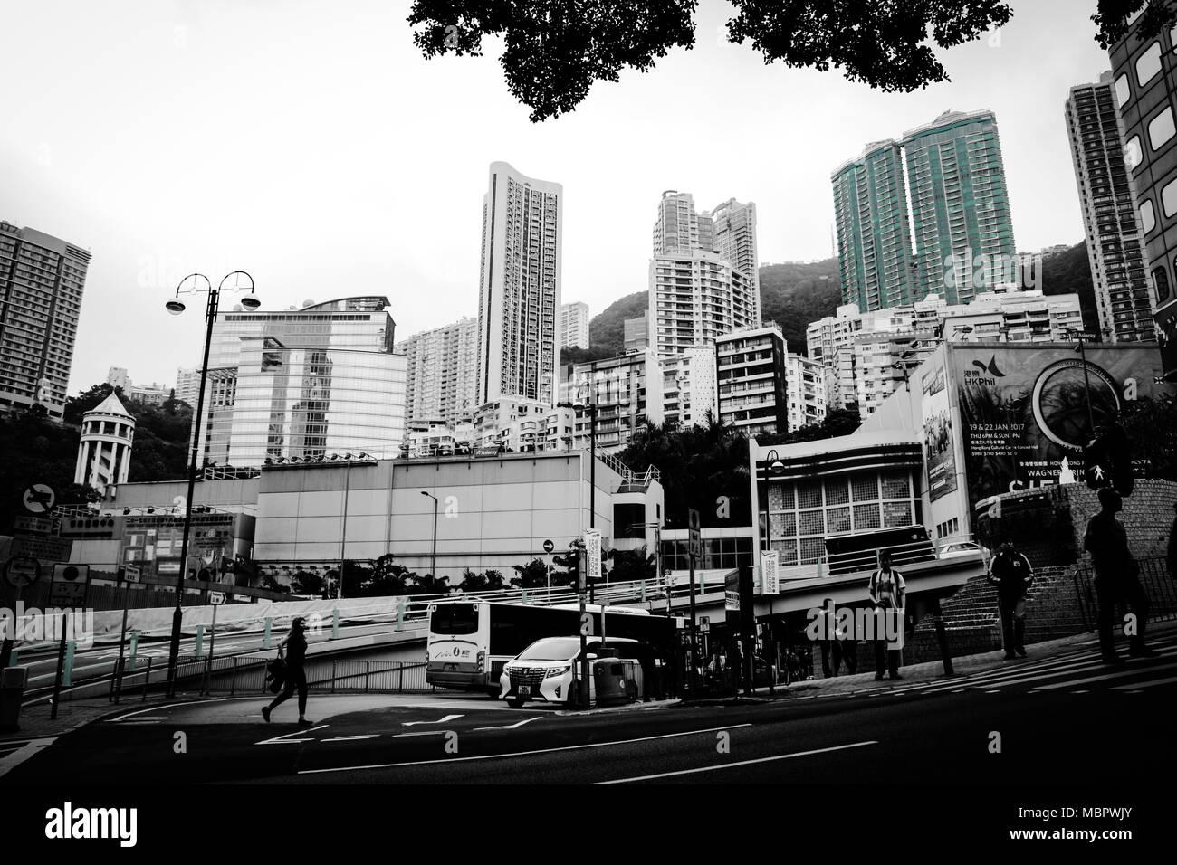 Apartment buildings in Hong Kong, SAR of China - Stock Image