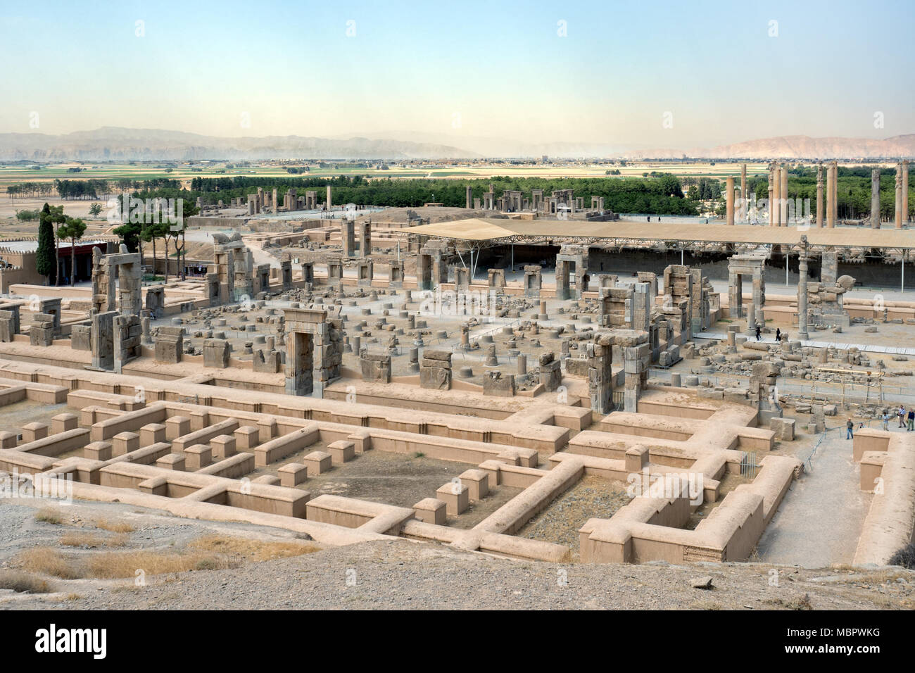 Elevated View Of The Ancient Ruins At Persepolis Iran Stock Photo Alamy