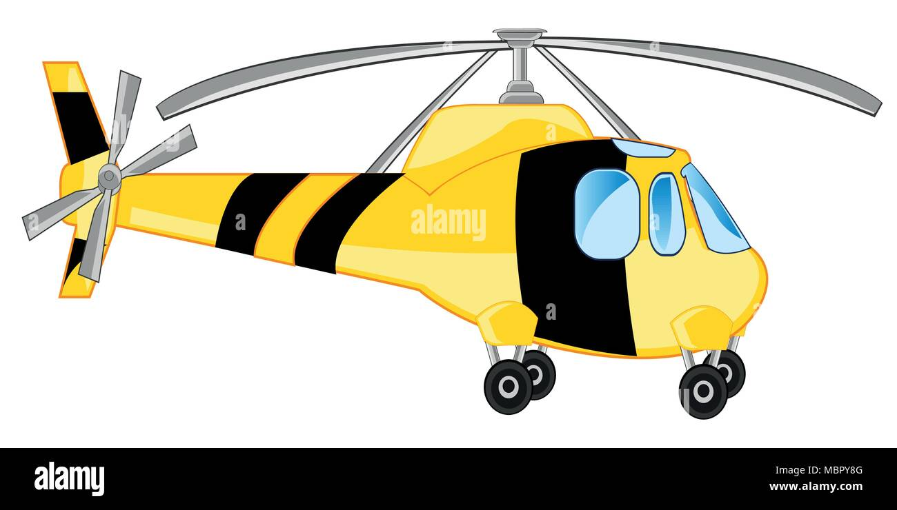 Air transport helicopter - Stock Vector