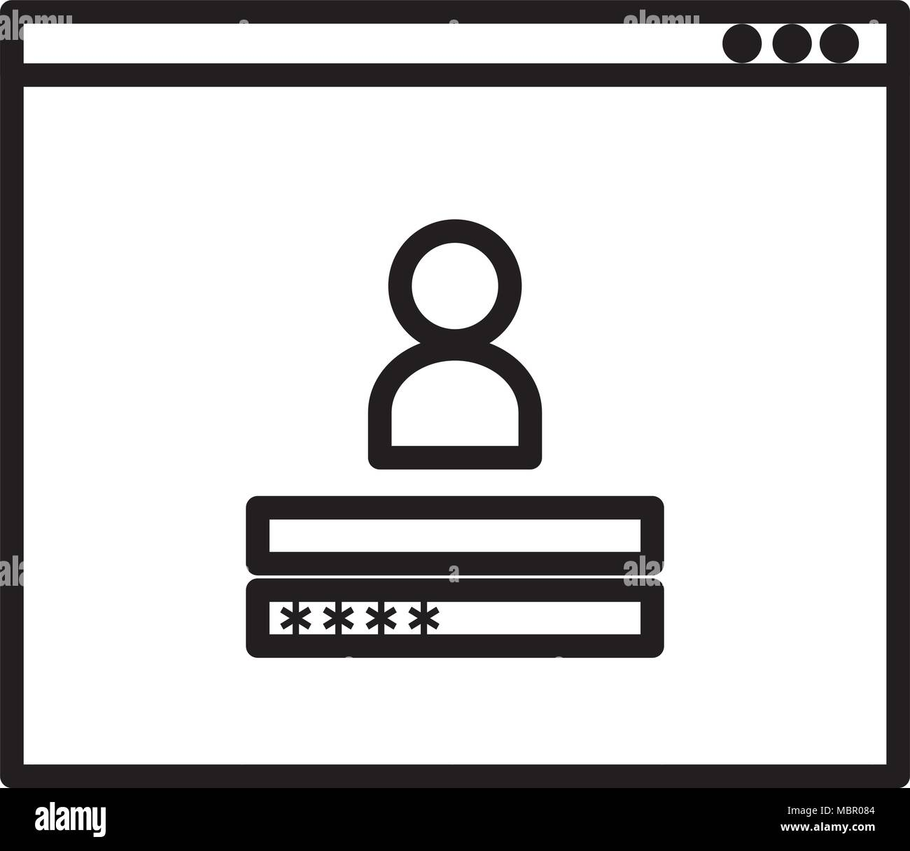 access template login icon Stock Vector Art & Illustration