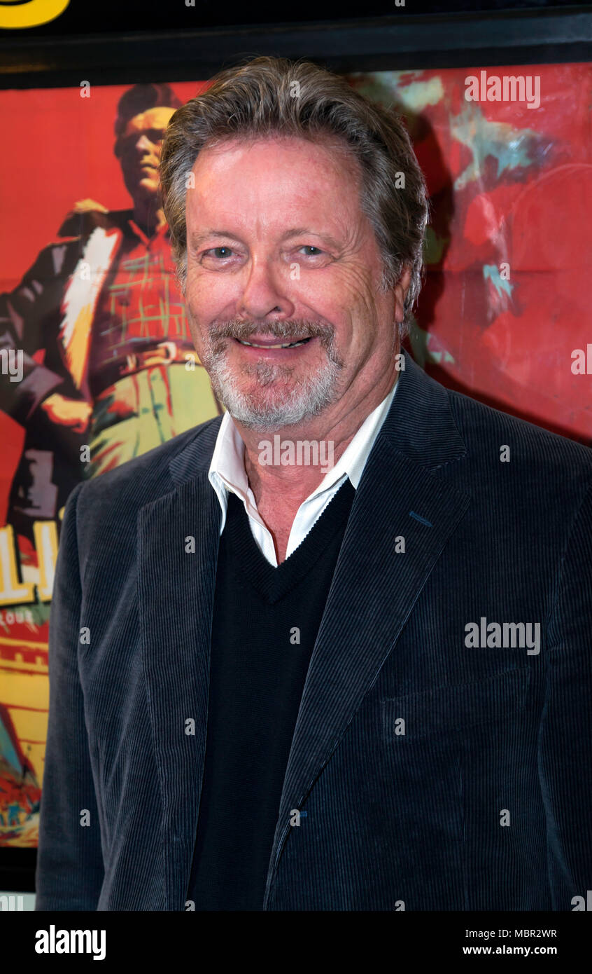 "Ian Ogilvy  appearing in ""An Evening with Ian Ogilvy"" at  the Cinema Museum ,  in an event hosted by the Misty Moon Film Society Stock Photo"