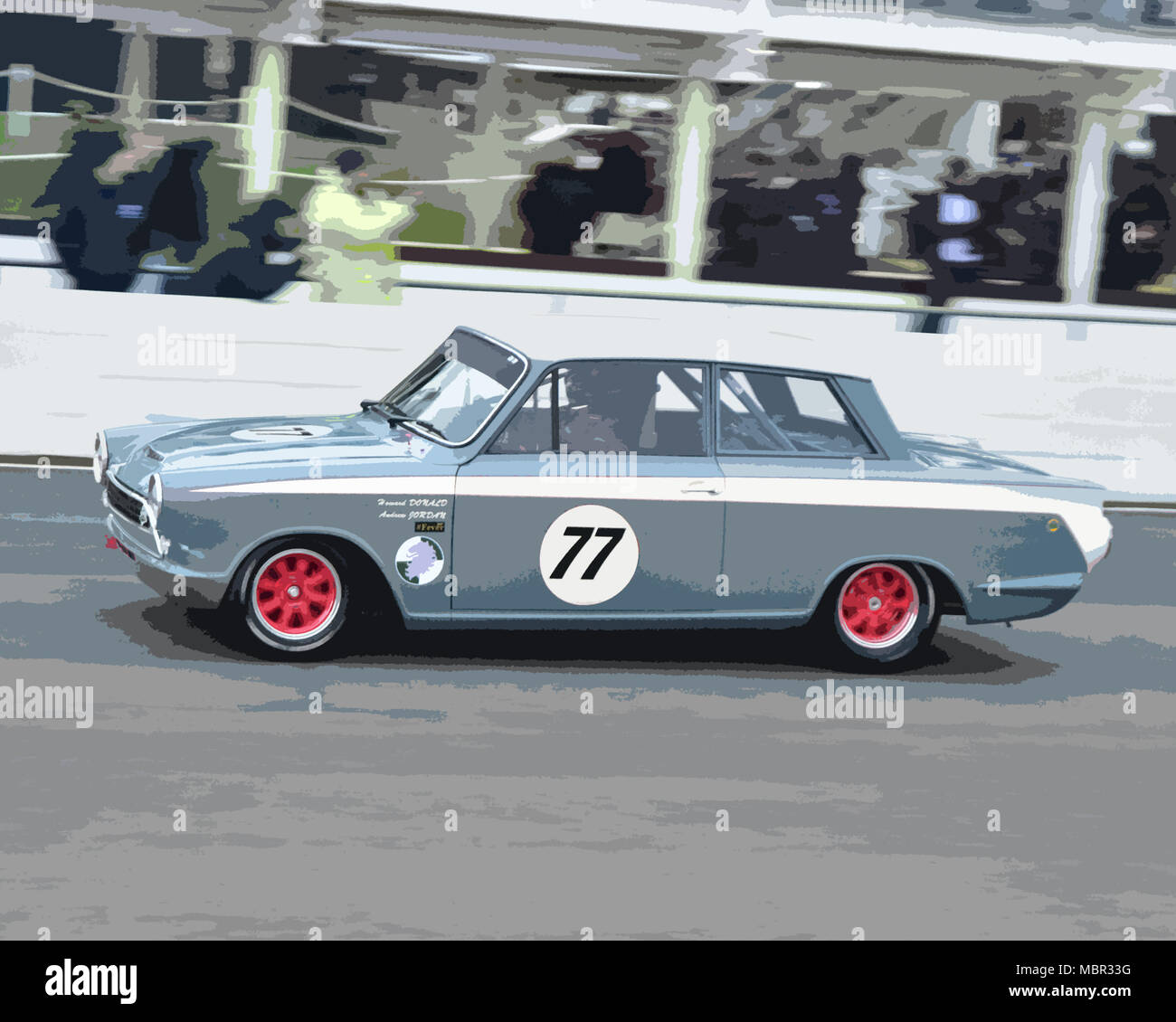 Andrew Jordan, Ford Lotus Cortina Mk1, winner, Sears Trophy, Saloon