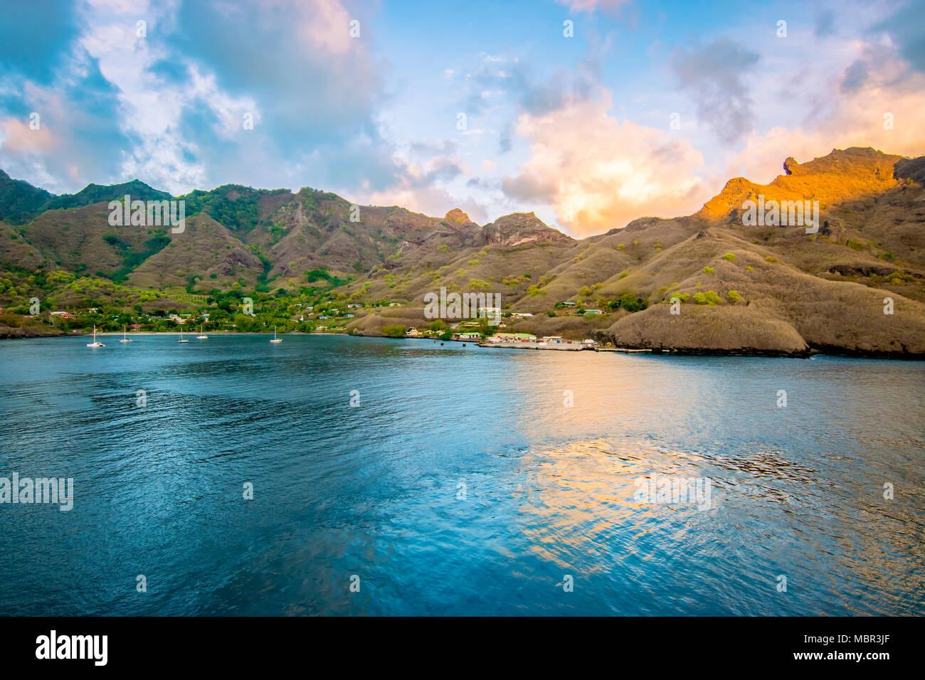 Nuku Hiva, French Polynesia. - Stock Image