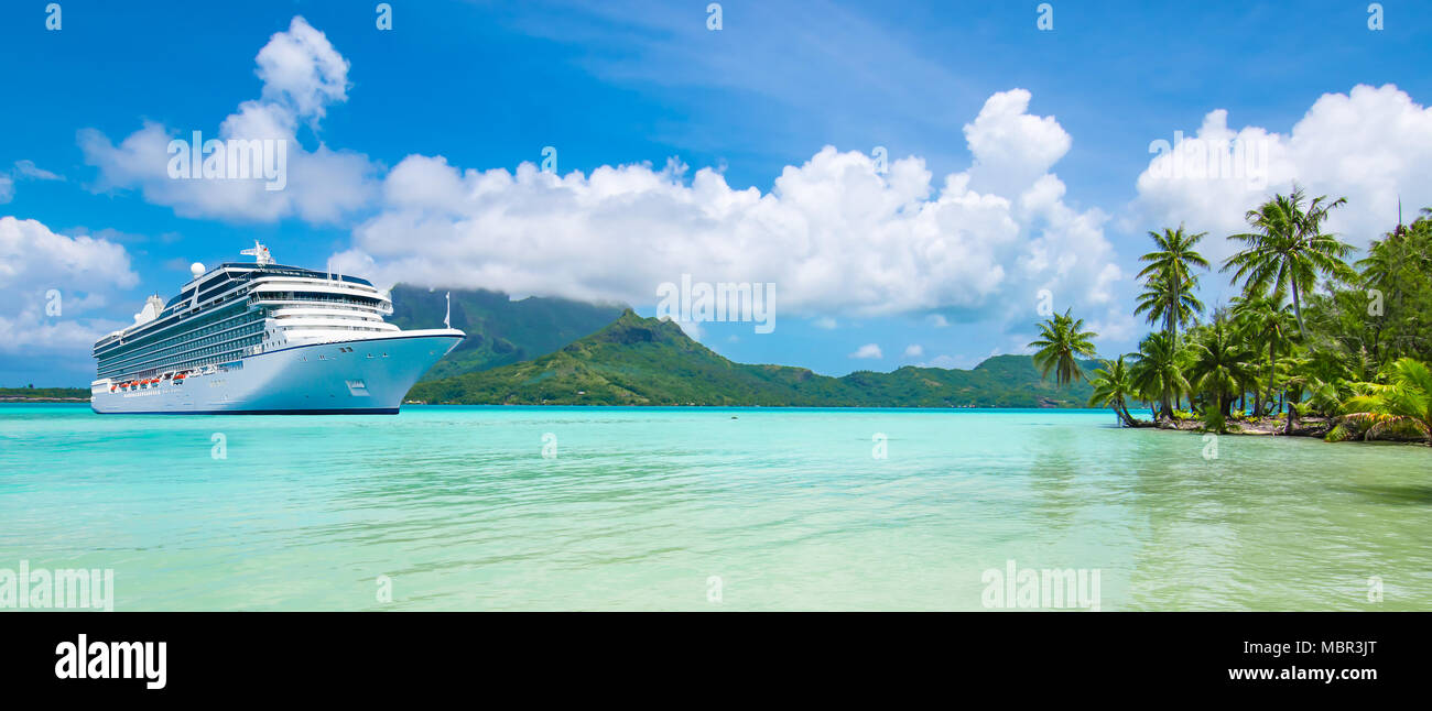 Cruise vacation travel, French Polynesia, South Pacific - Stock Image