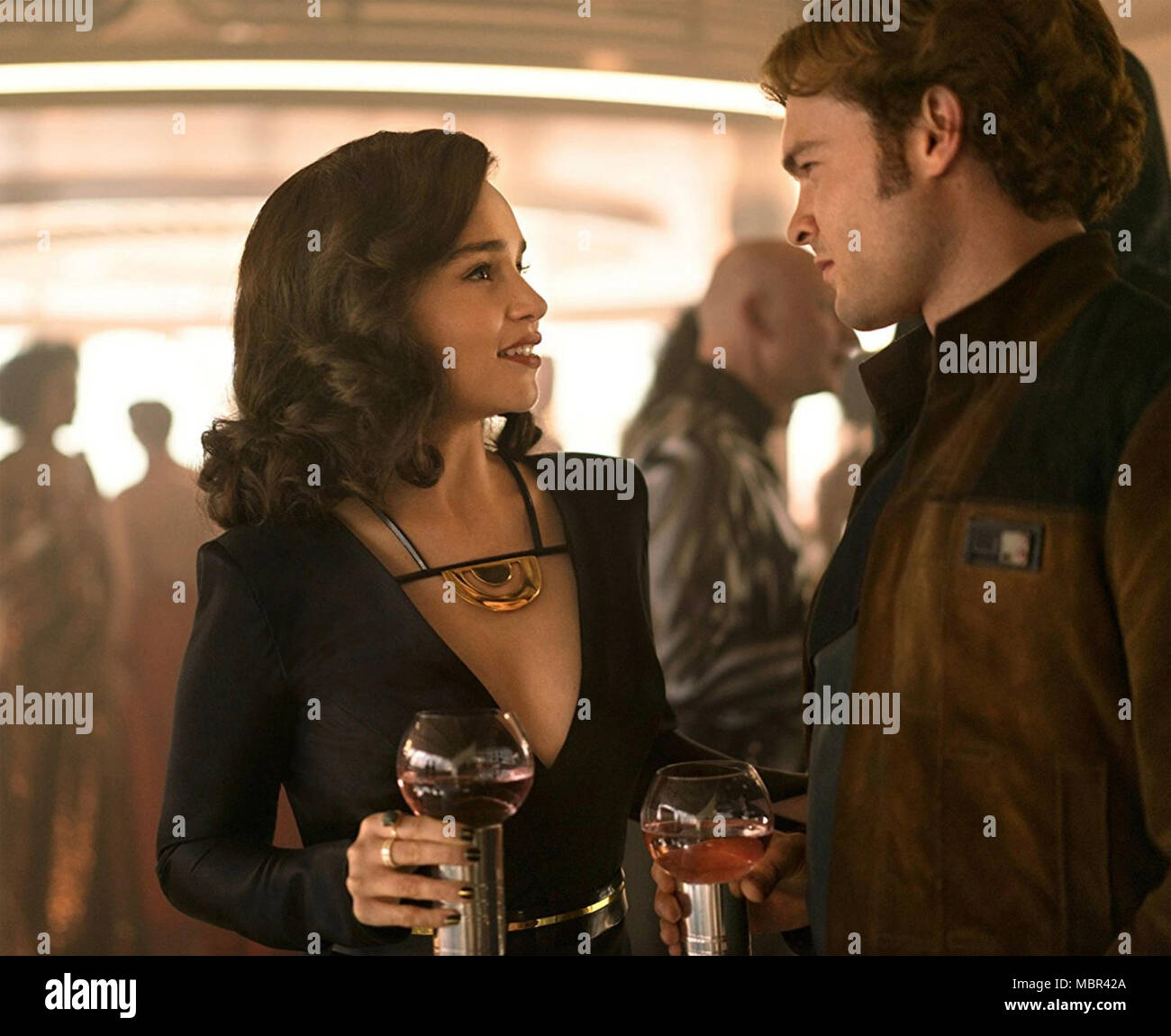 SOLO: A STAR WARS STORY 2018 Lucasfilm production with Emilia Clarke and Alden Ehrenreich - Stock Image