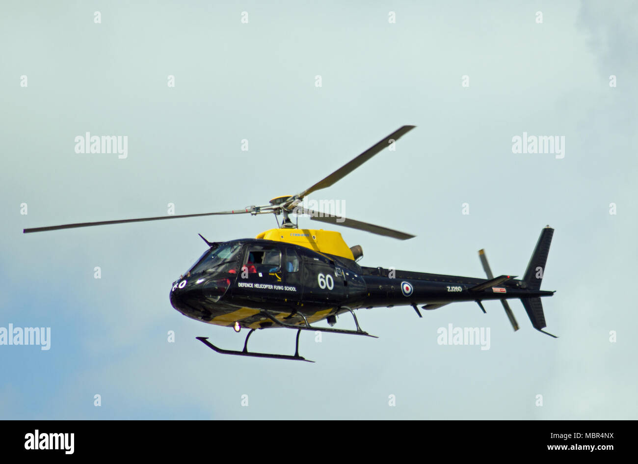 Police helicopter at Wales National Airshow 2017 - Stock Image